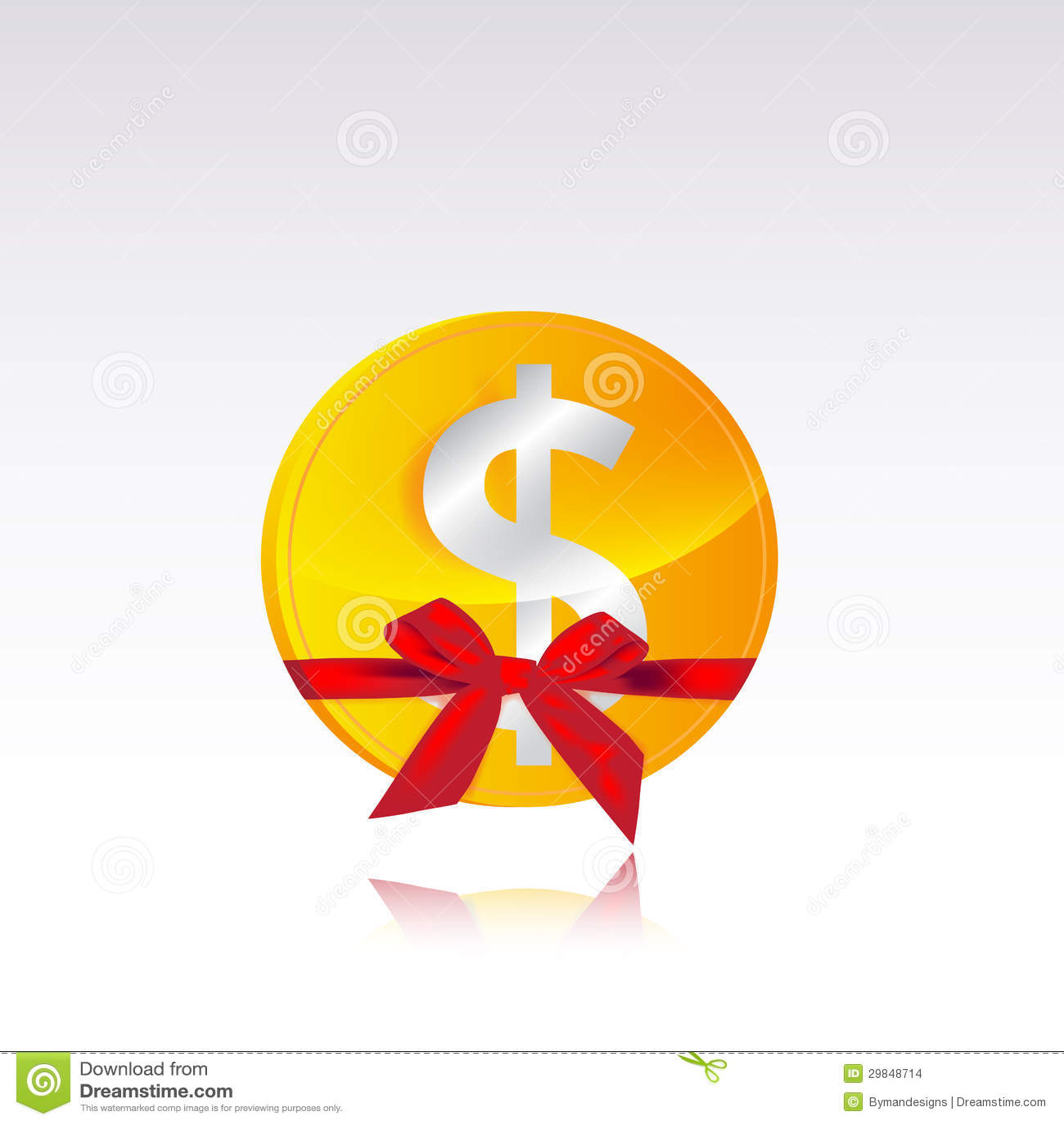 Presente da moeda do dólar