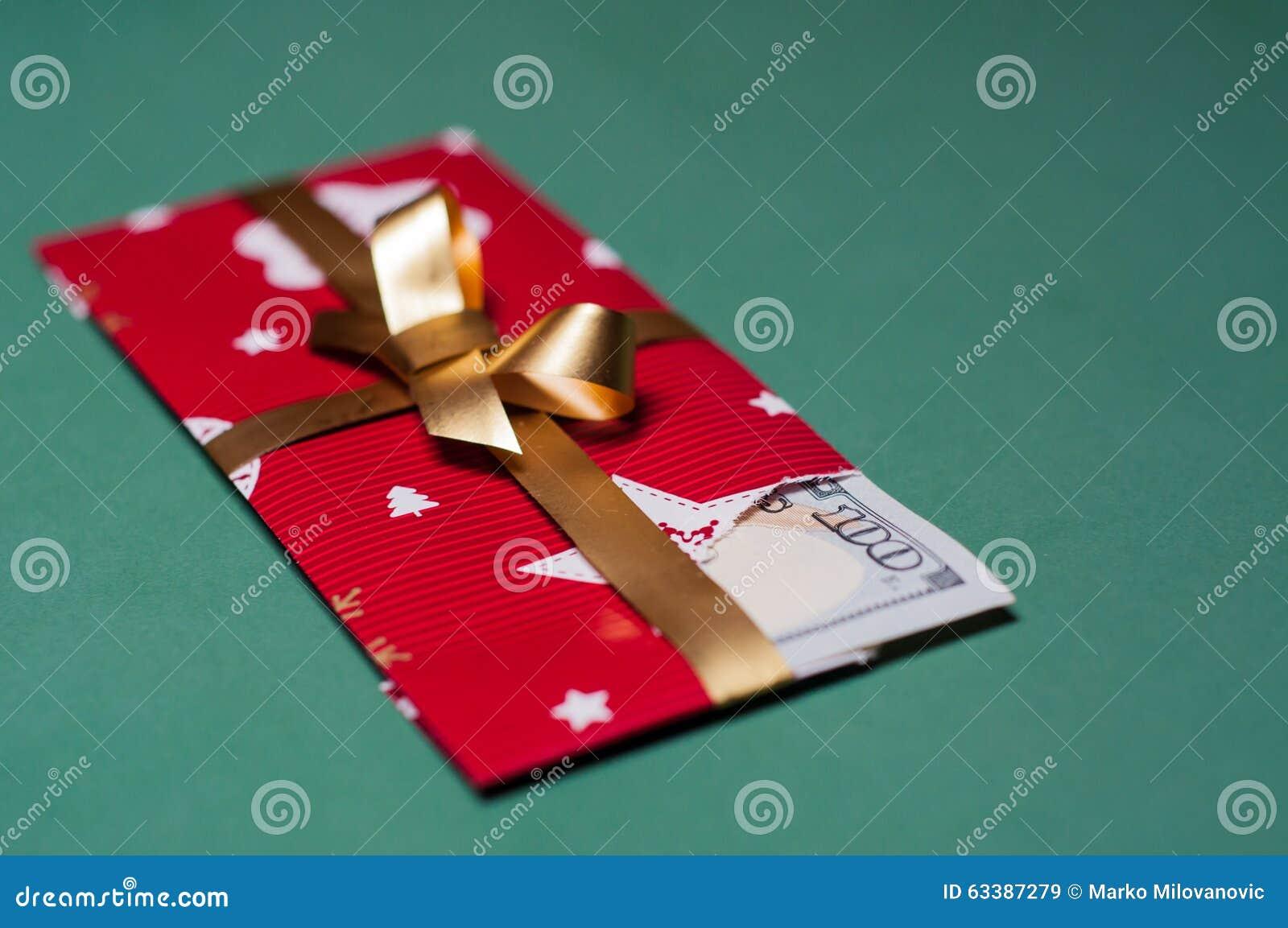 Presente de Natal do dinheiro do dinheiro de U S currency