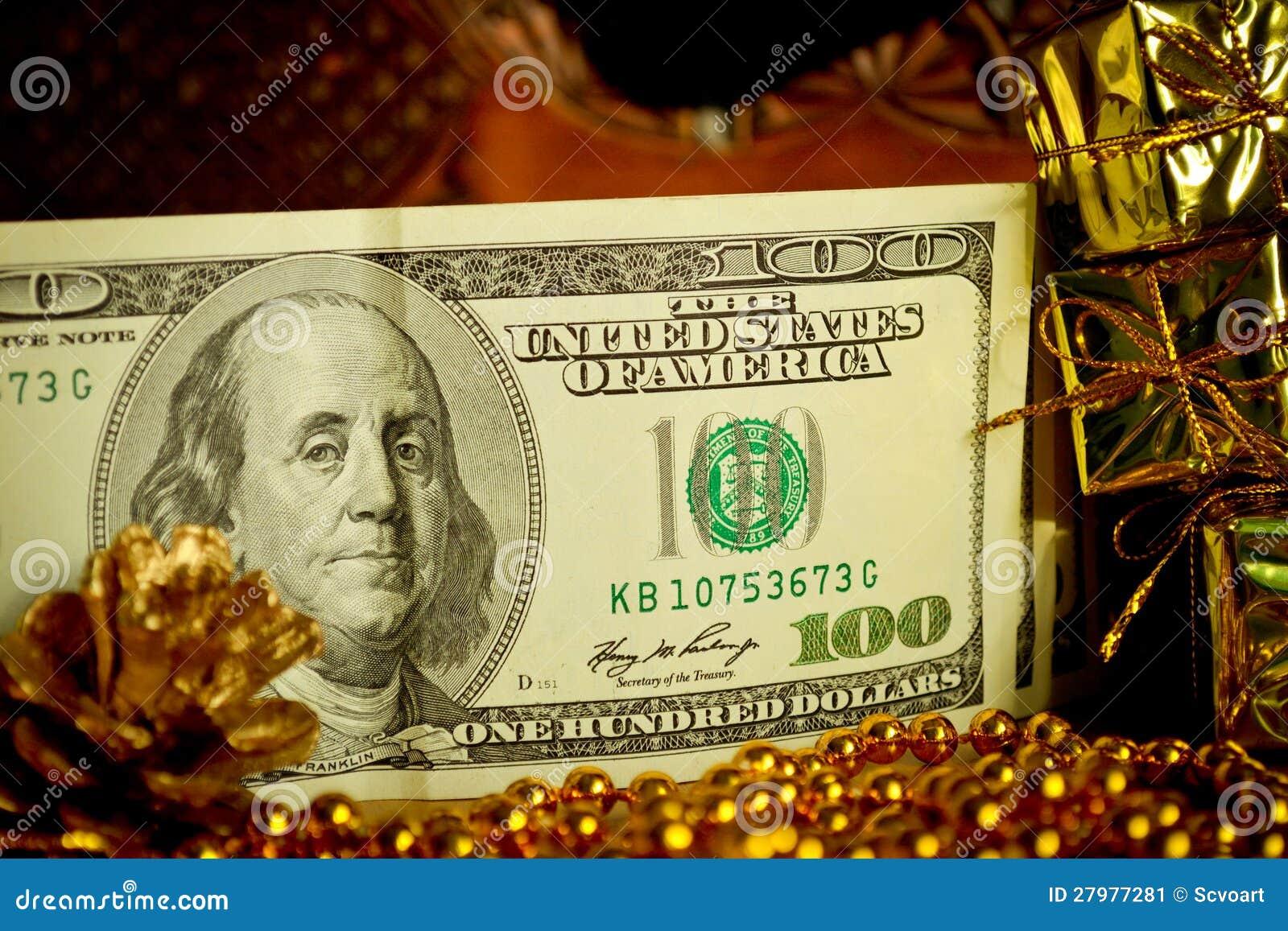 Presente do Natal do dinheiro