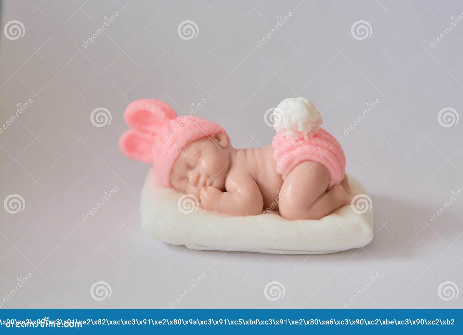 Presente do sabão sob a forma de um bebê recém-nascido