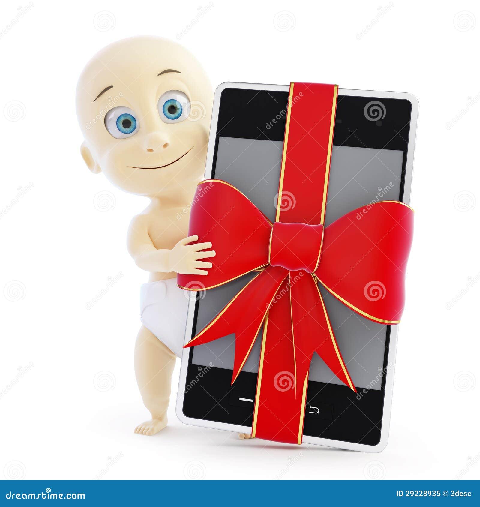 Download Presente Esperto Do Telefone Do Bebê Ilustração Stock - Ilustração de diaper, feriado: 29228935