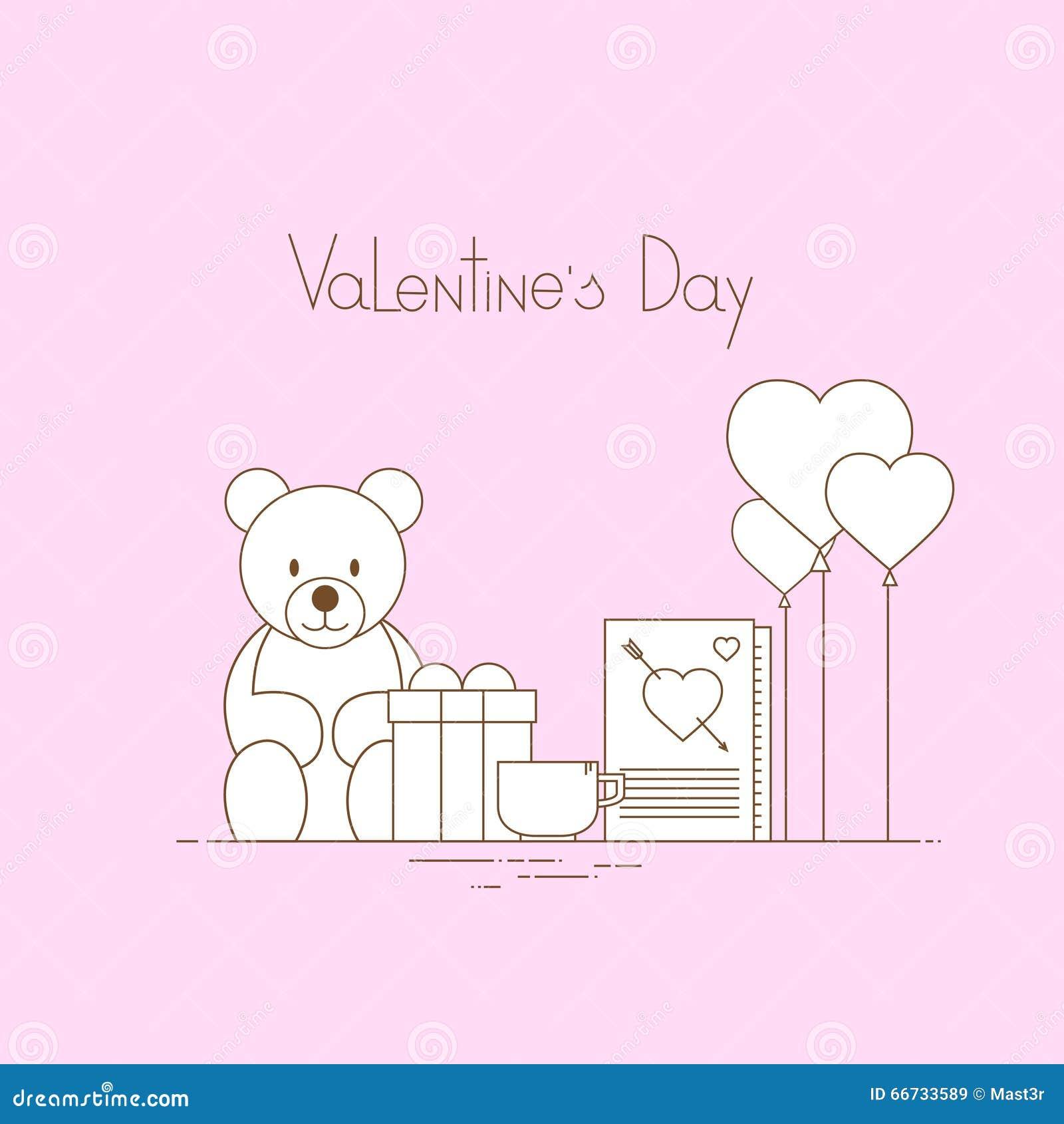 Presente rosado Toy Bear de la forma del corazón del amor de Valentine Day Gift Card Holiday