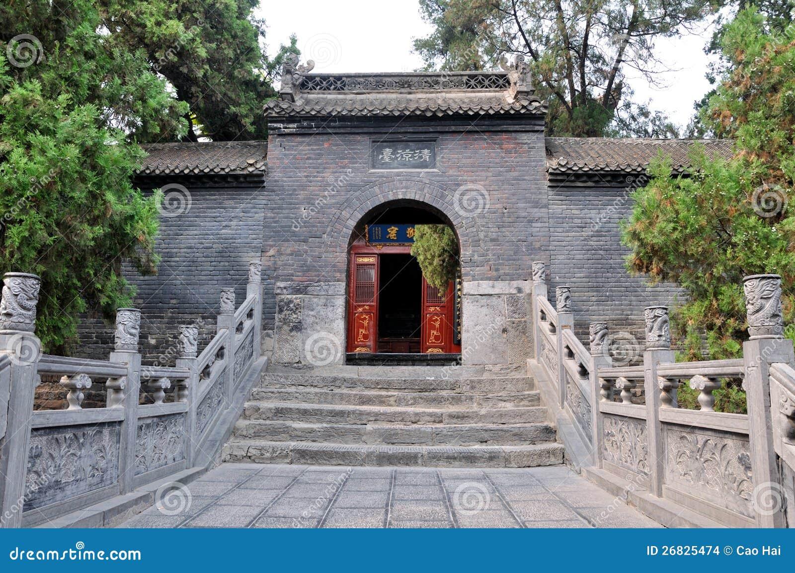 Presenterat buddismtempel i nord av Kina