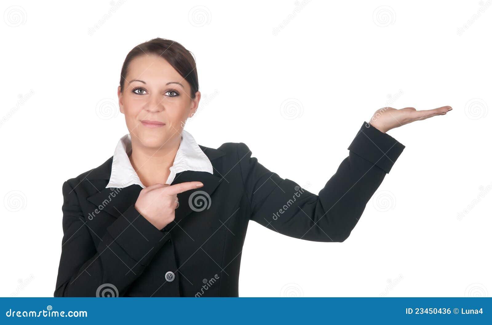 Presenterat lyckligt för affärskvinnor