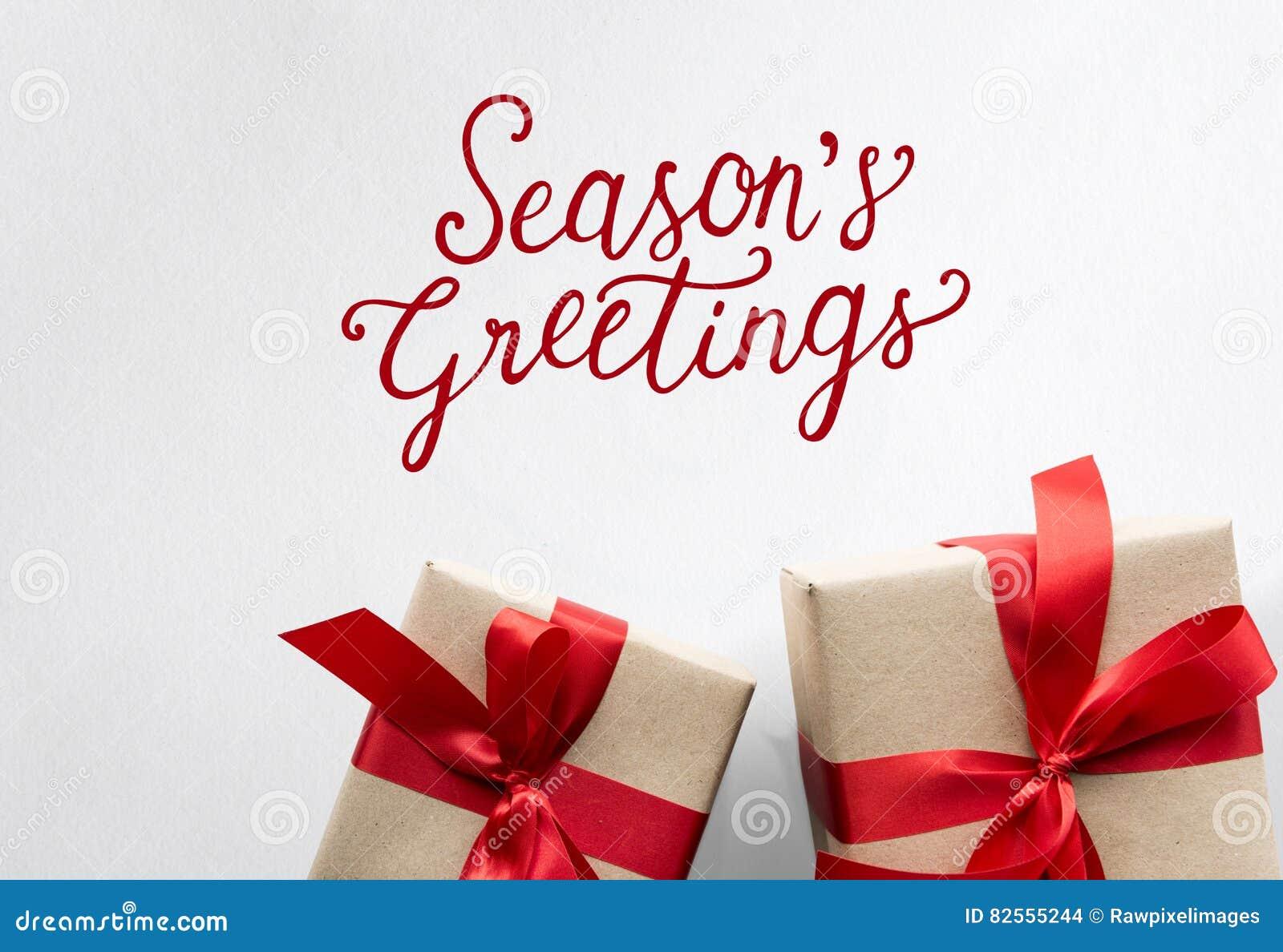 Presentes de época natalícia dos cumprimentos das estações dos elogios
