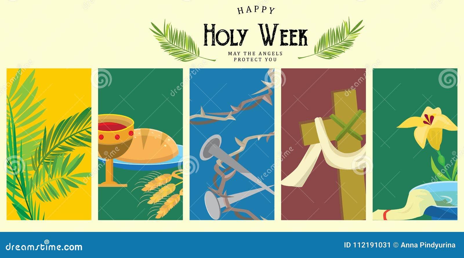 Presenti per la settimana santa di Cristianità pasqua, la crocifissione prestato e della palma o di passione domenica, di venerdì