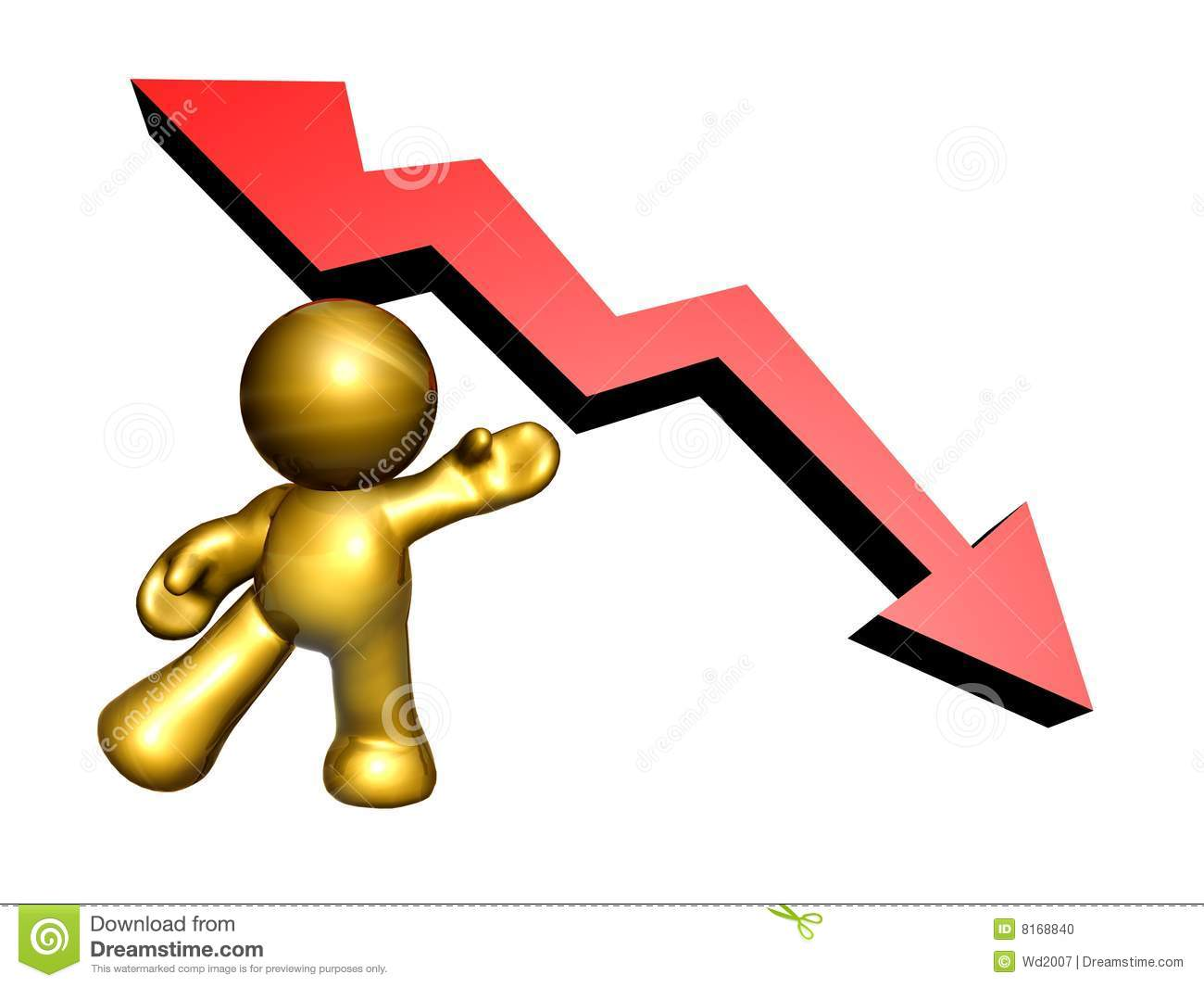 Presenting The Down Trend Arrow Stock Photo - Image: 8168840