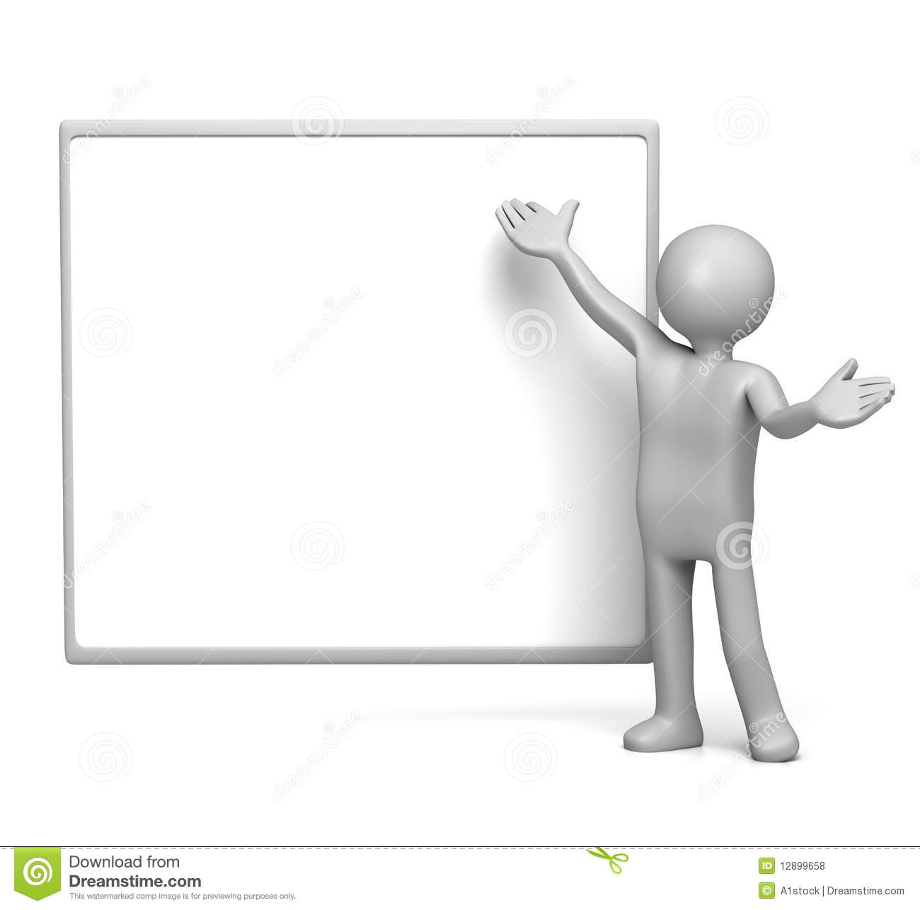 presenting on empty whiteboard stock illustration illustration of
