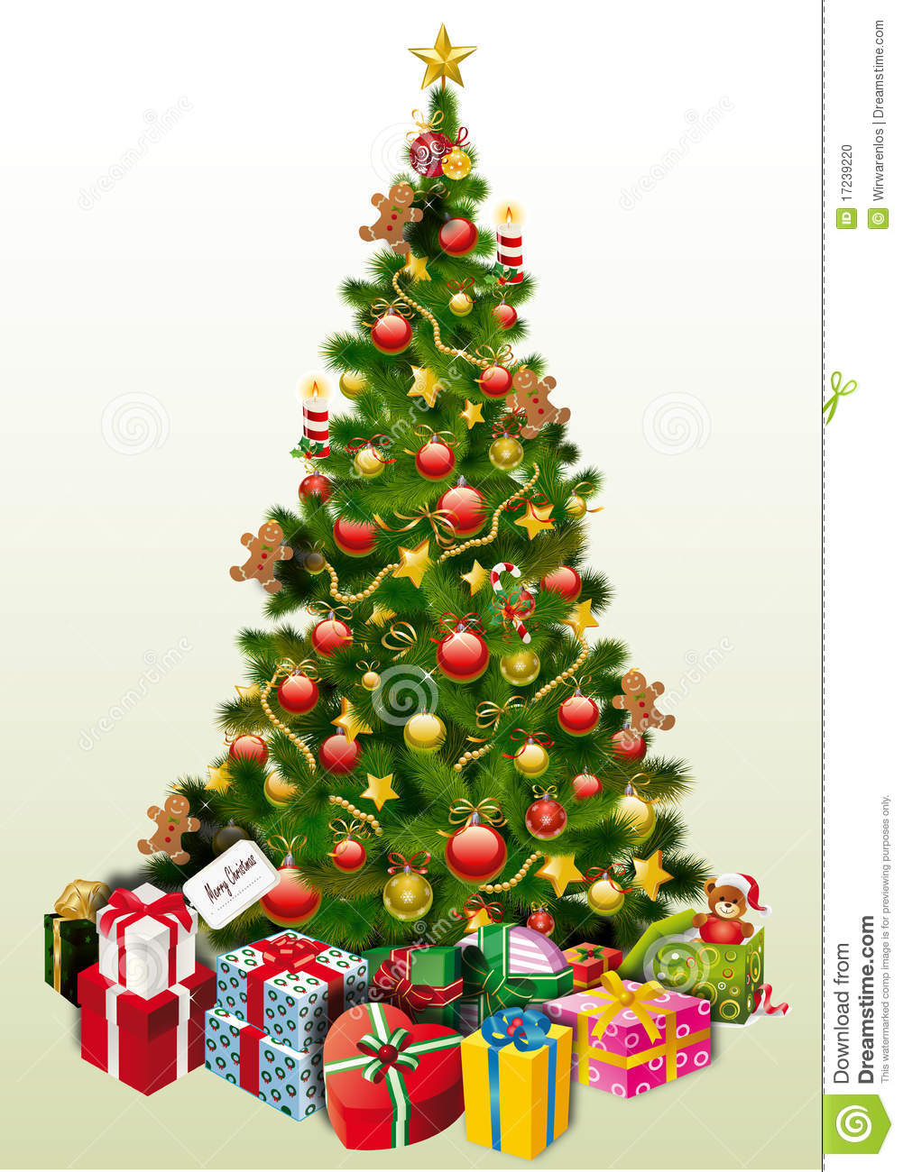 Christmas Tree Presents Stock Vector Illustration Of Vector