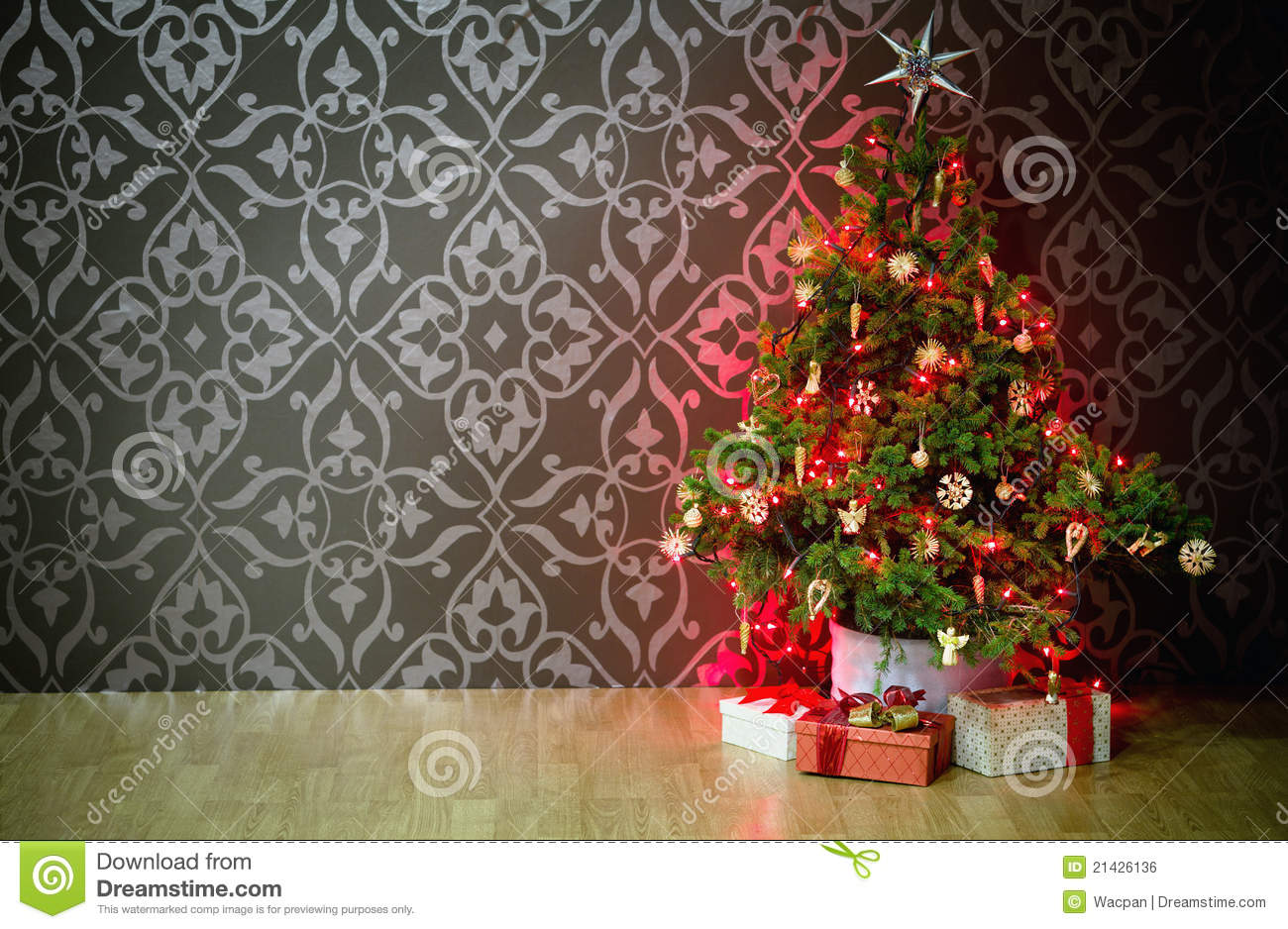 Presents Under A Christmas Tree Royalty Free Stock Image - Image ...
