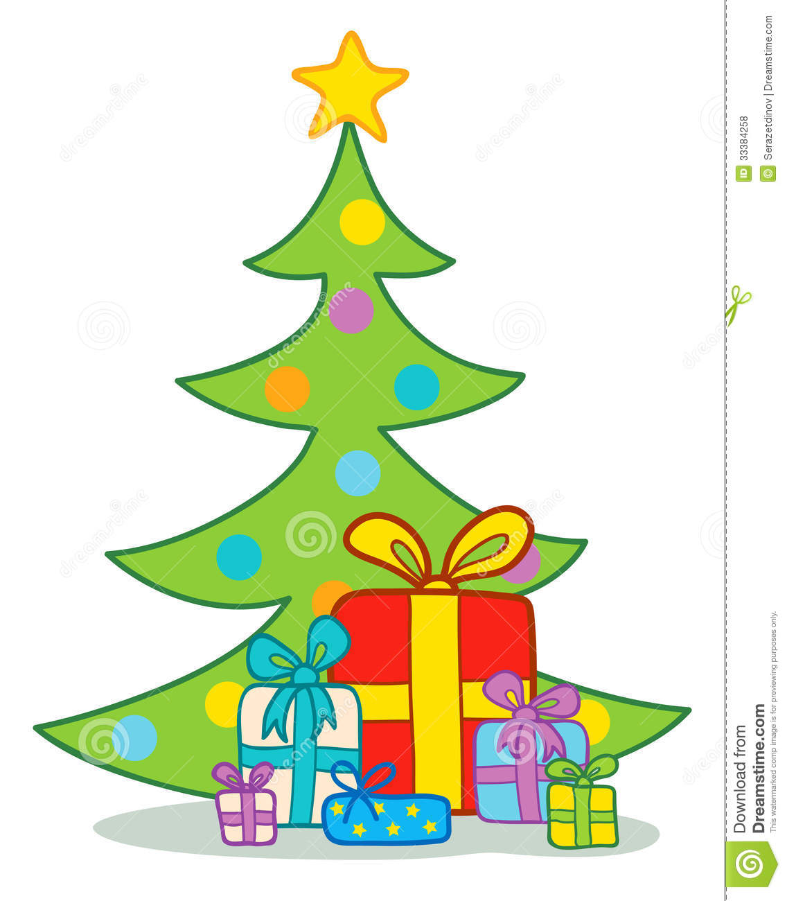 Presents Under The Christmas Tree Stock Vector ...