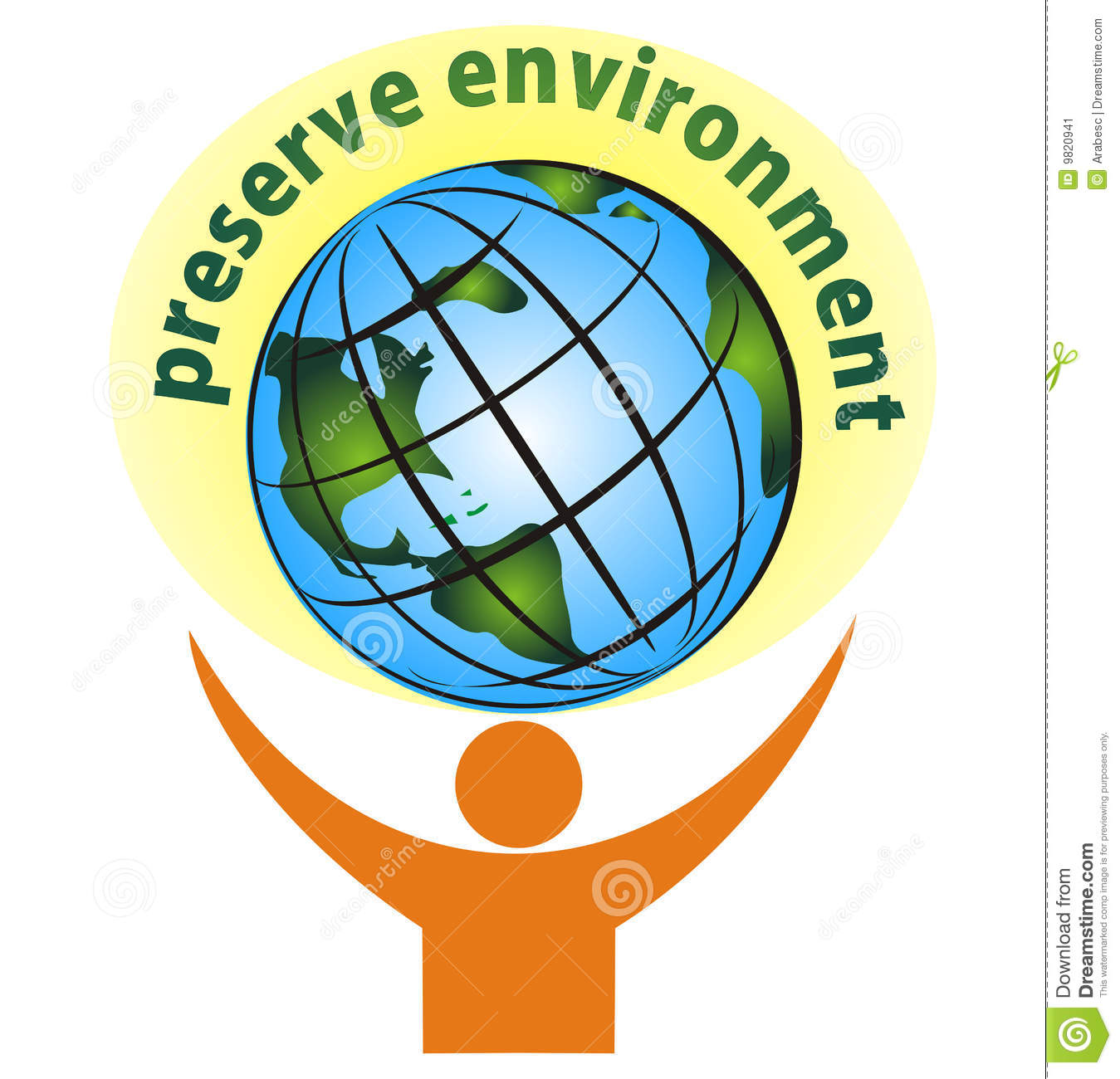 Preserve environment - vector illustration isolated on white.