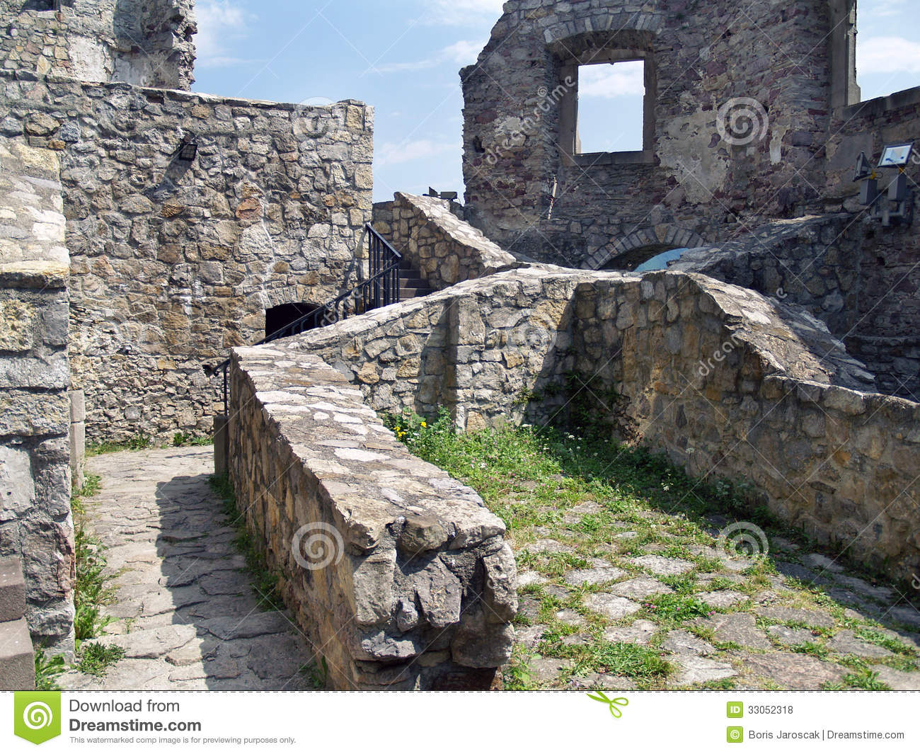 Preserved Interior Of The Castle Strecno Stock Photo