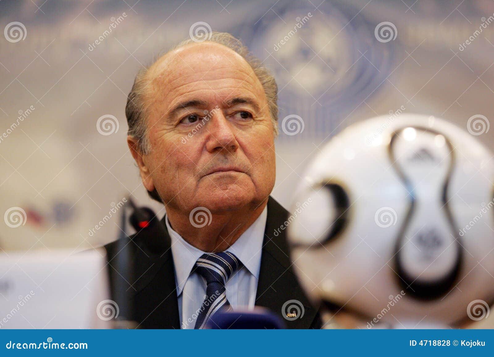 President of FIFA Joseph Blatter