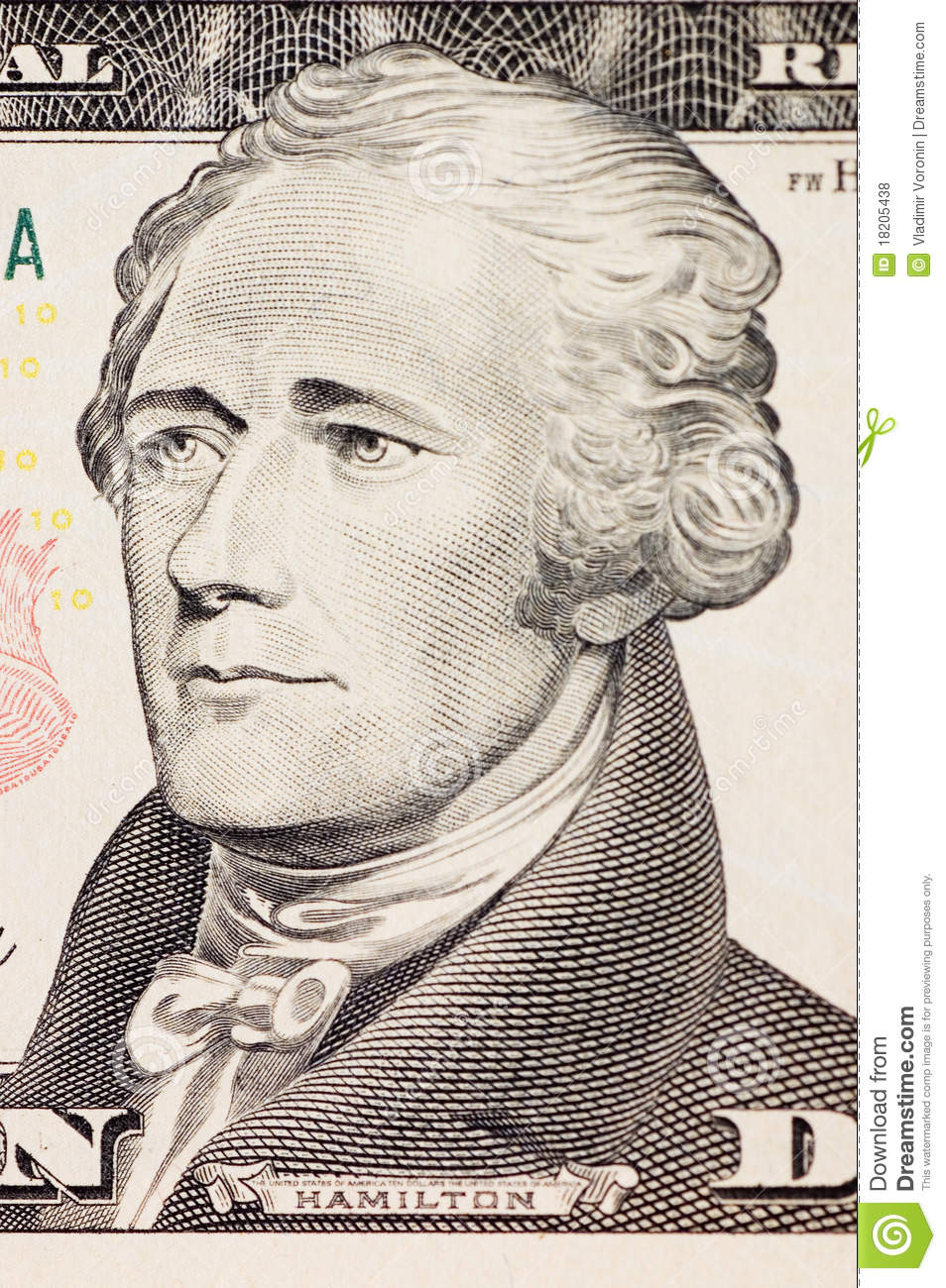Hamilton (AL) United States  City pictures : President Hamilton Face On The Ten Dollar Bill Royalty Free Stock ...