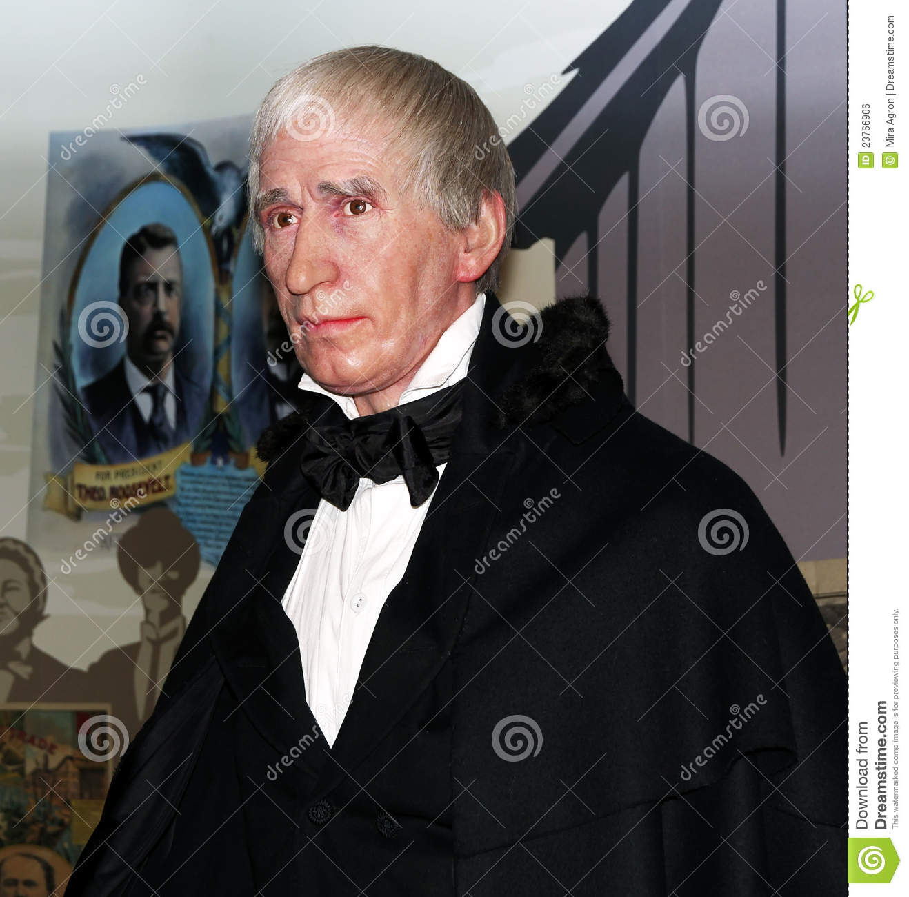 William Henry Harrison, the 9th president of USA at Madame Tussauds ...