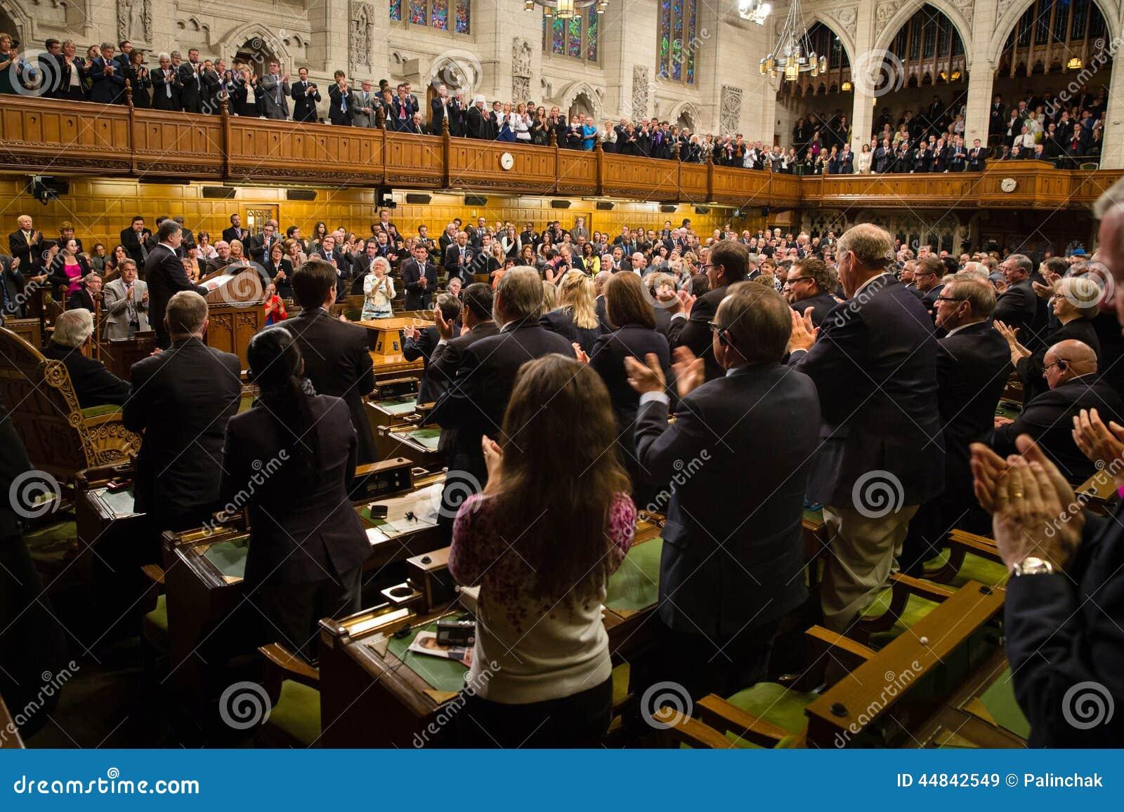 Presidente de Ucrânia Petro Poroshenko em Ottawa (Canadá)