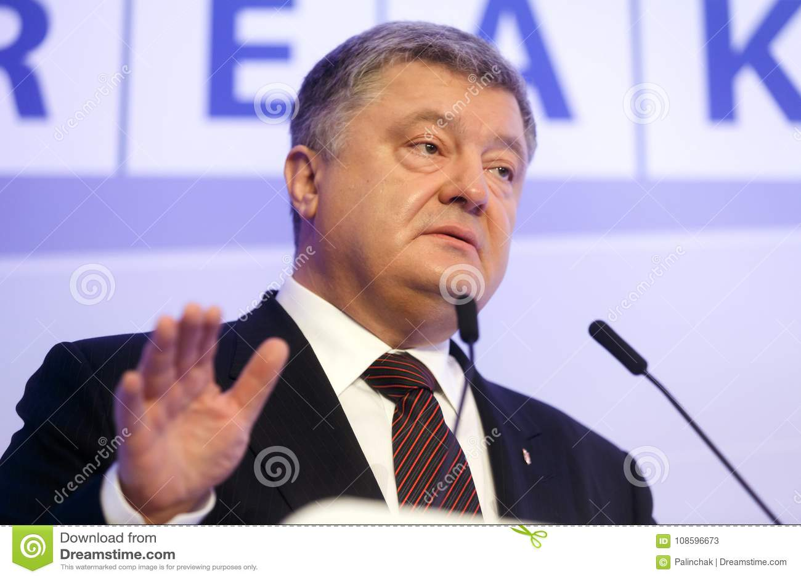 Presidente dell Ucraina Petro Poroshenko in Tavate