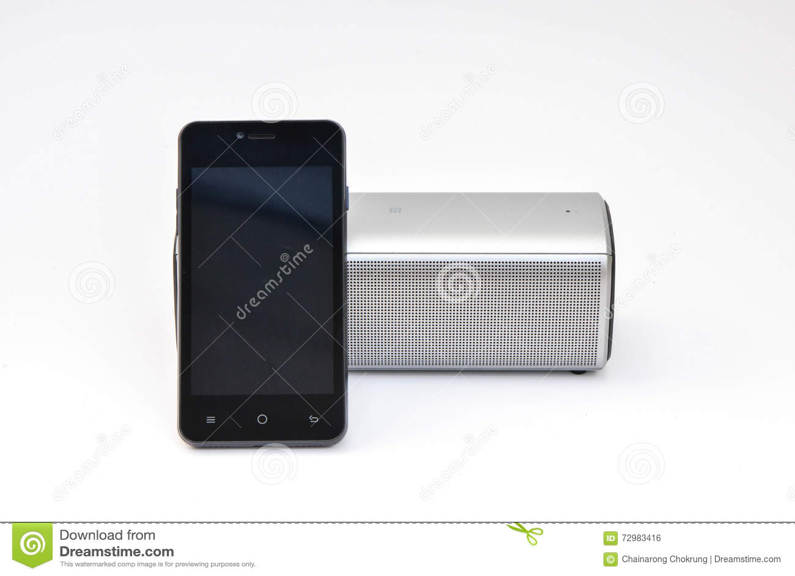 Presidente inalámbrico conectado con el teléfono móvil