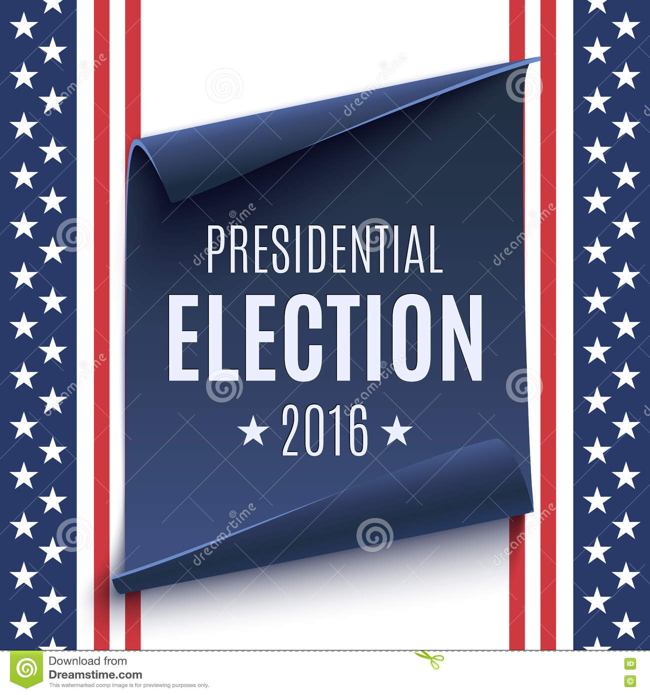 presidential election 2016 background  stock vector
