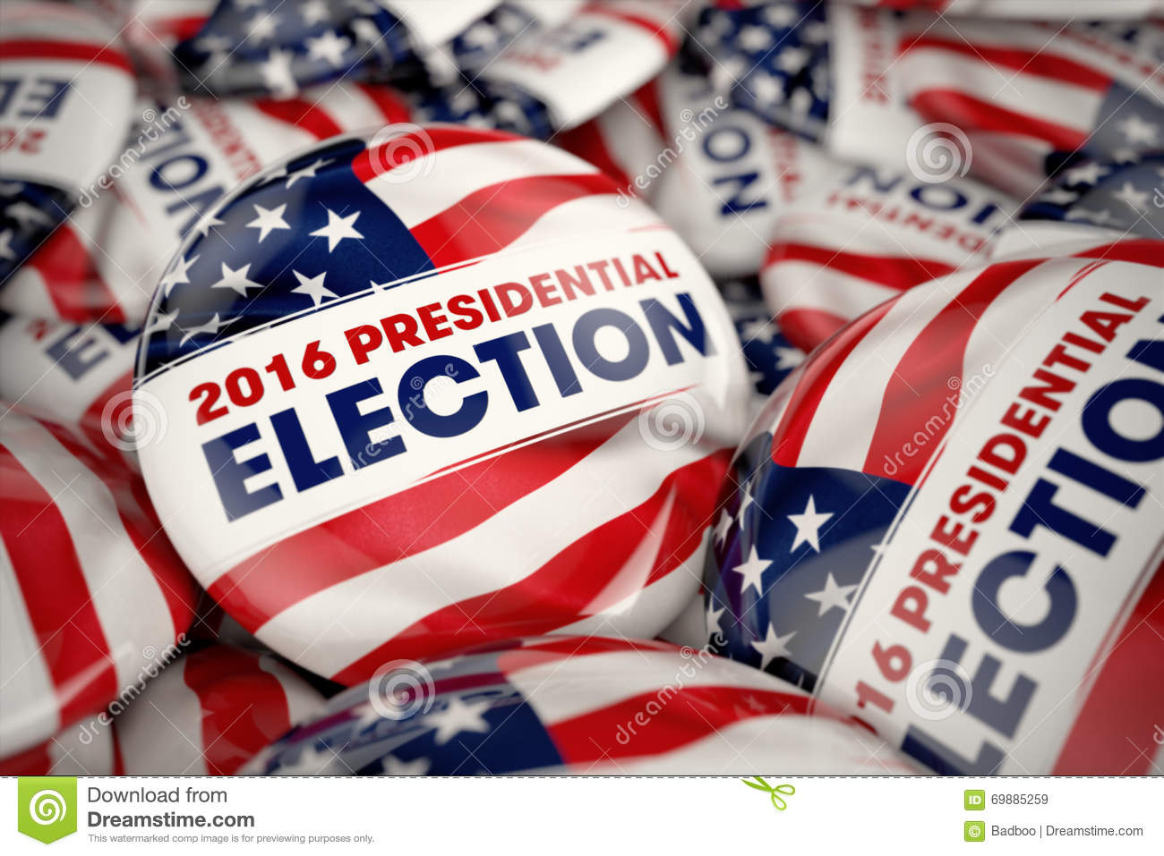 2016 Presidential Election Buttons