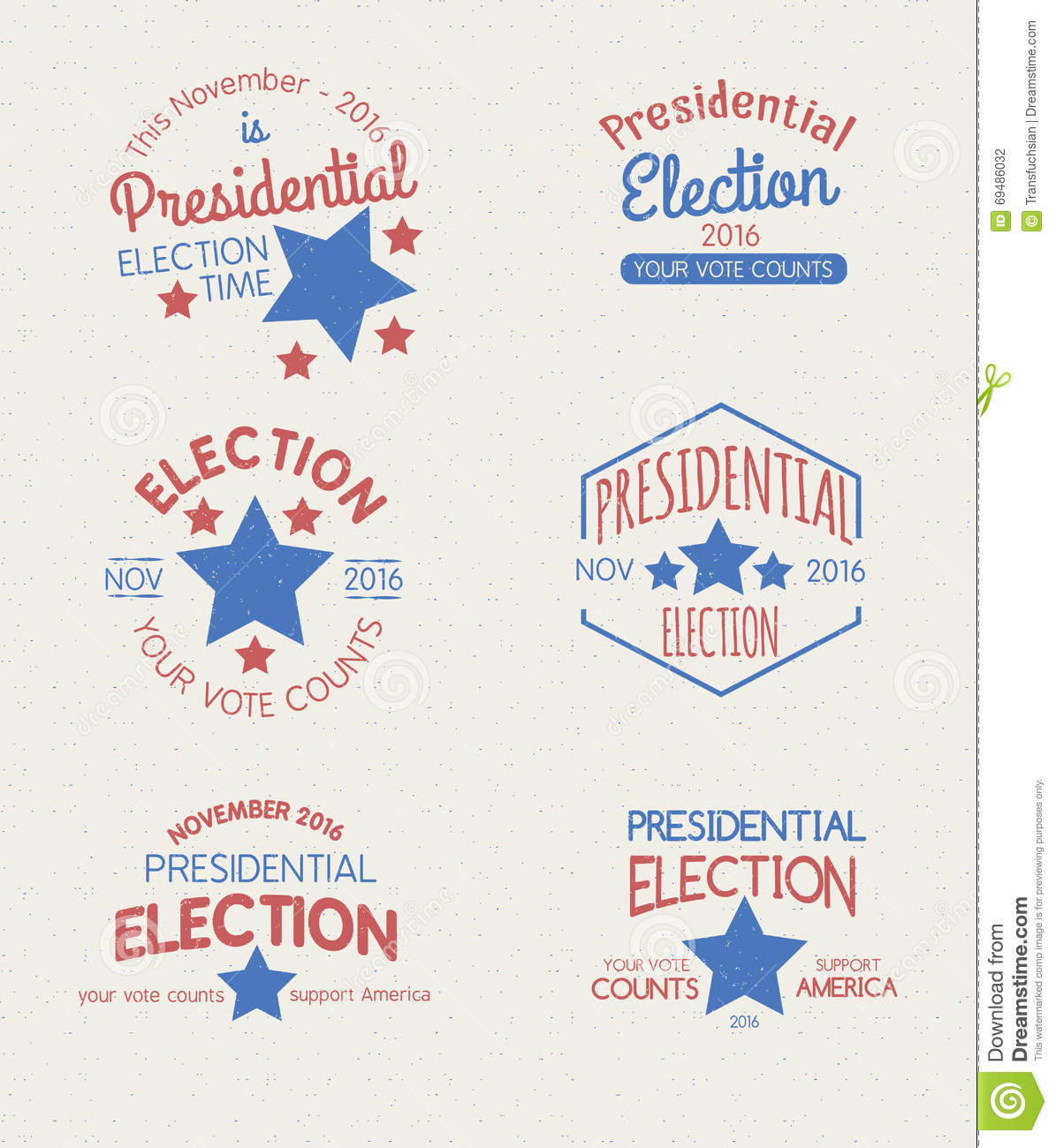 Presidential Election Graphic Badges