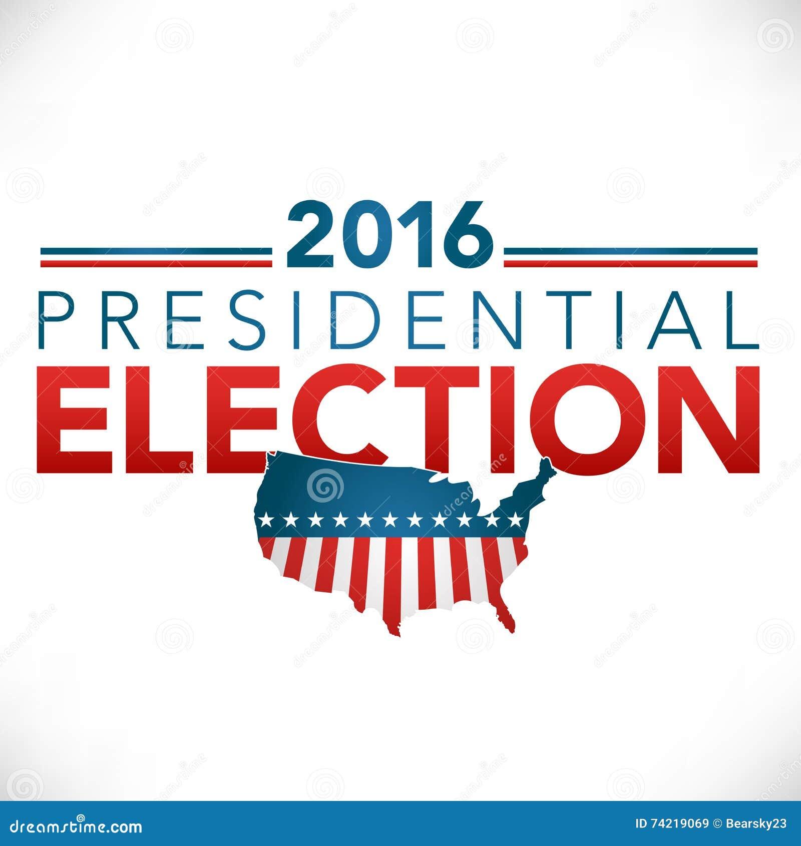 2016 presidential election header graphic stock vector. Black Bedroom Furniture Sets. Home Design Ideas