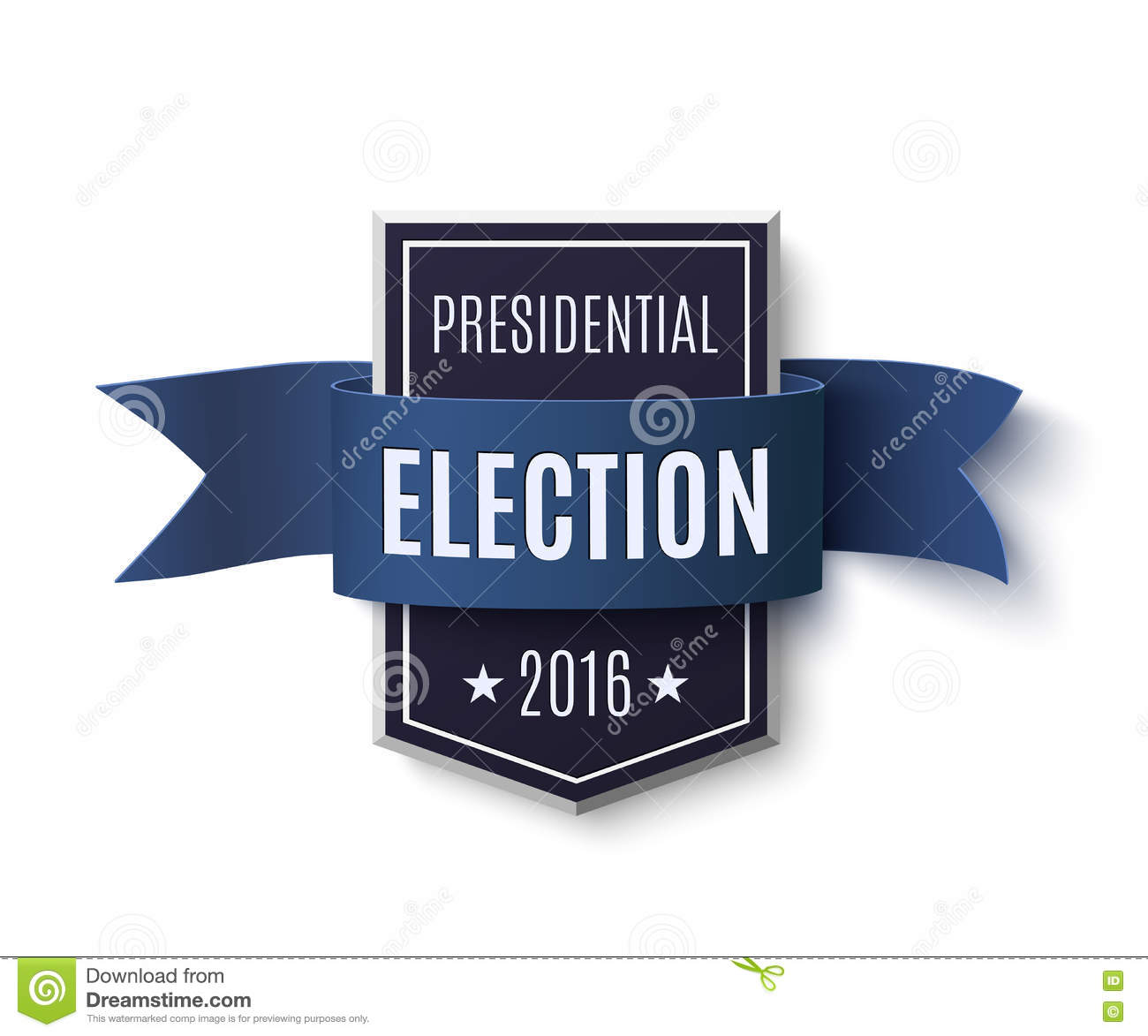 Presidential Election 2016 Poster Template Stock Vector