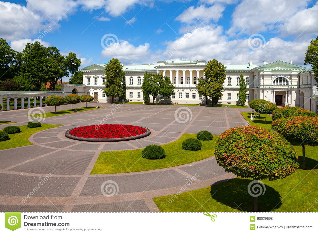 The Presidential Palace in Vilnius, the official residence of the President of Lithuania.