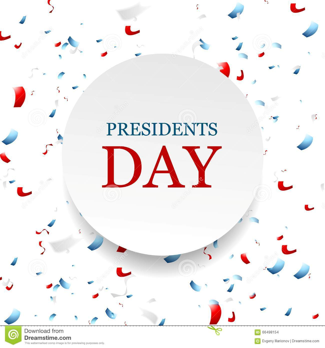 Extended Presidents Day: Presidents Day Abstract USA Colors Confetti Background