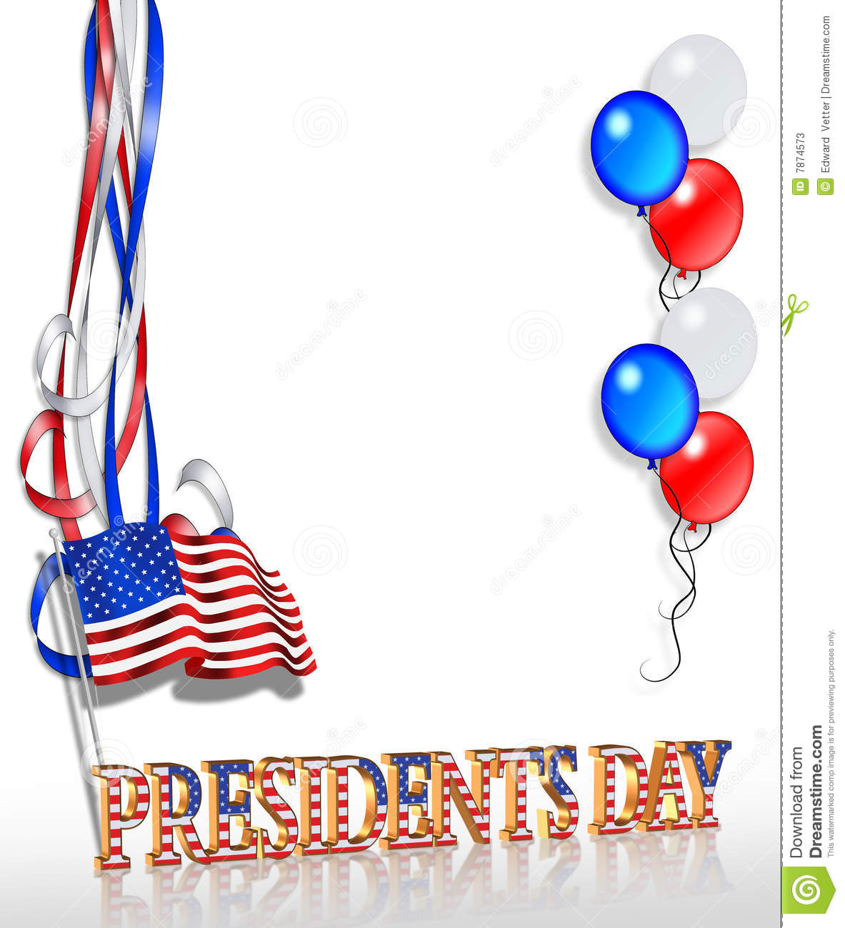 Extended Presidents Day: Presidents Day Background 2 Stock Illustration