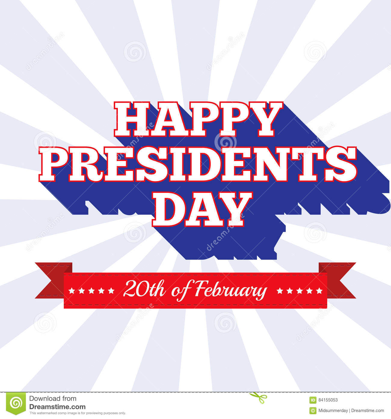presidents day background usa patriotic template in colors of