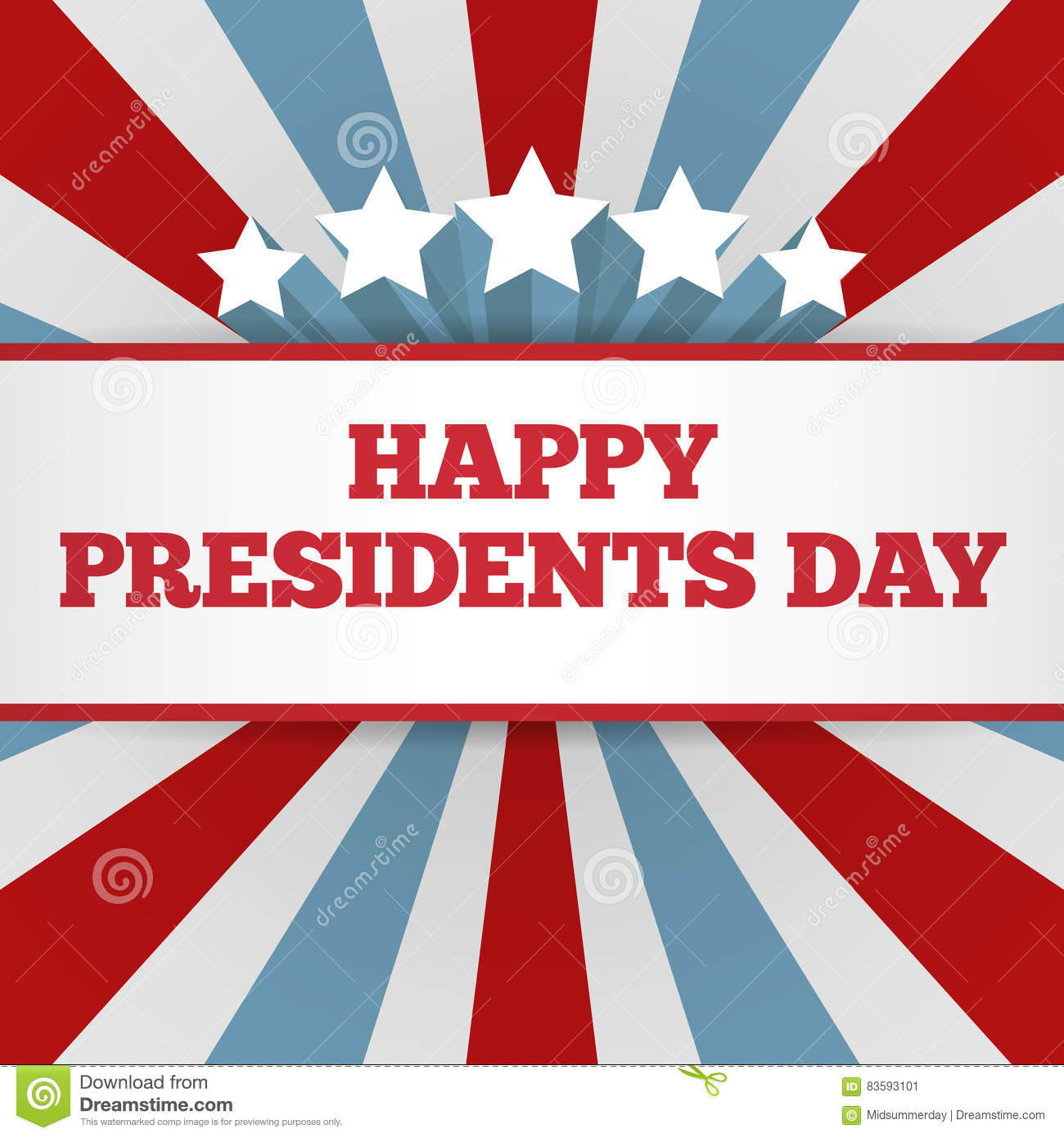 presidents day background usa patriotic vector template with text
