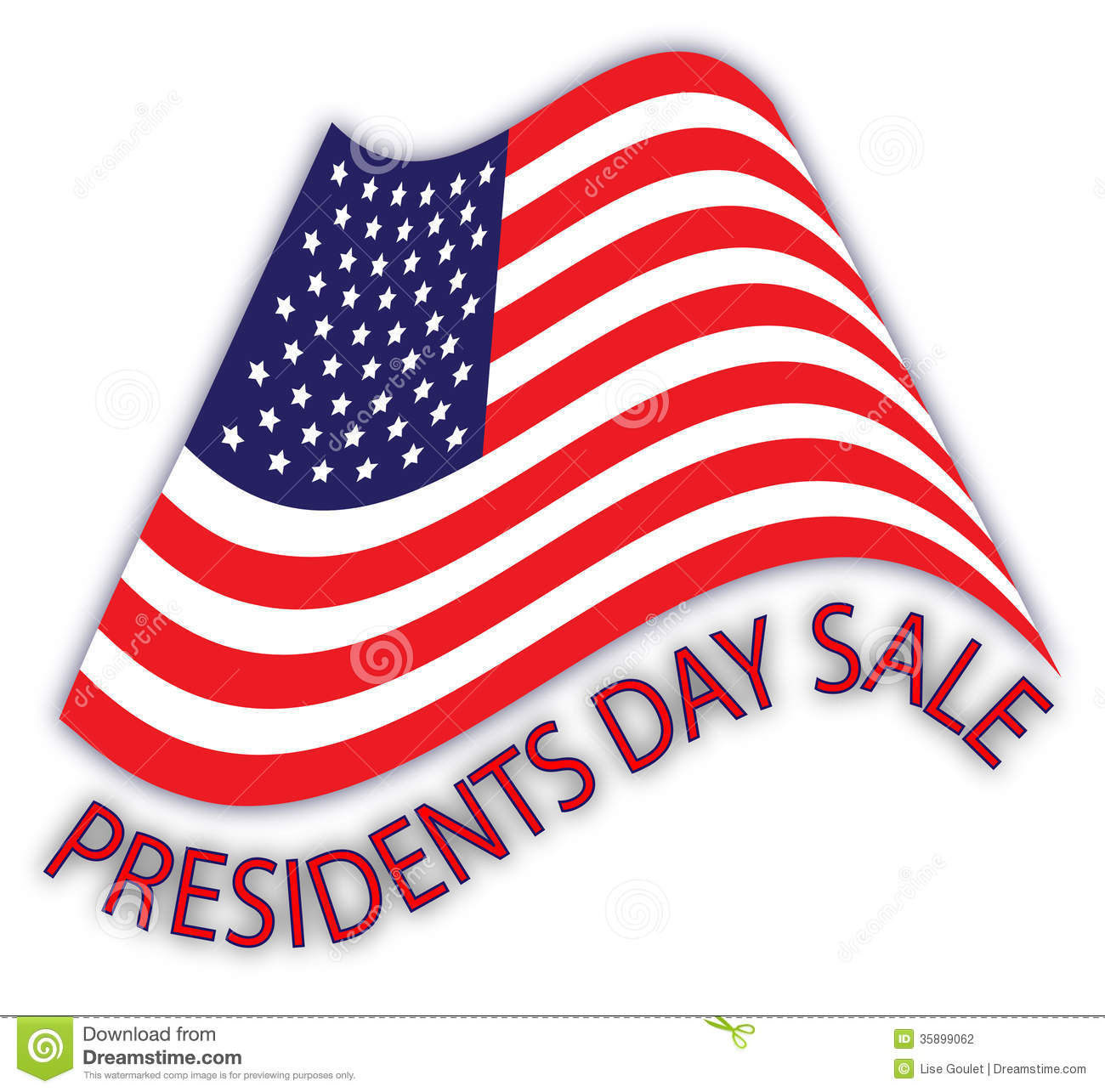President S Day Sale: Presidents Day Sale Ad Stock Photography