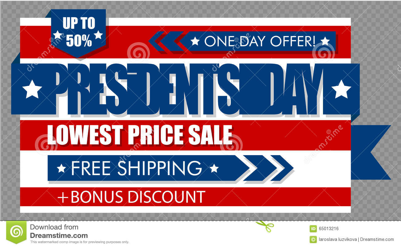 presidents day sale web banner stock vector image 65013216