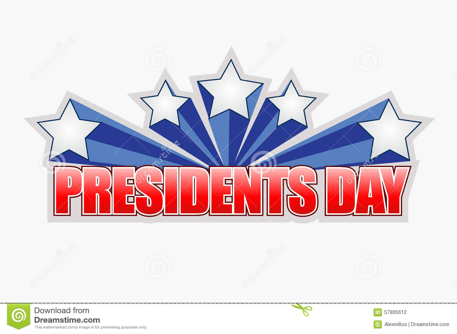 presidents day sign illustration design stock illustration