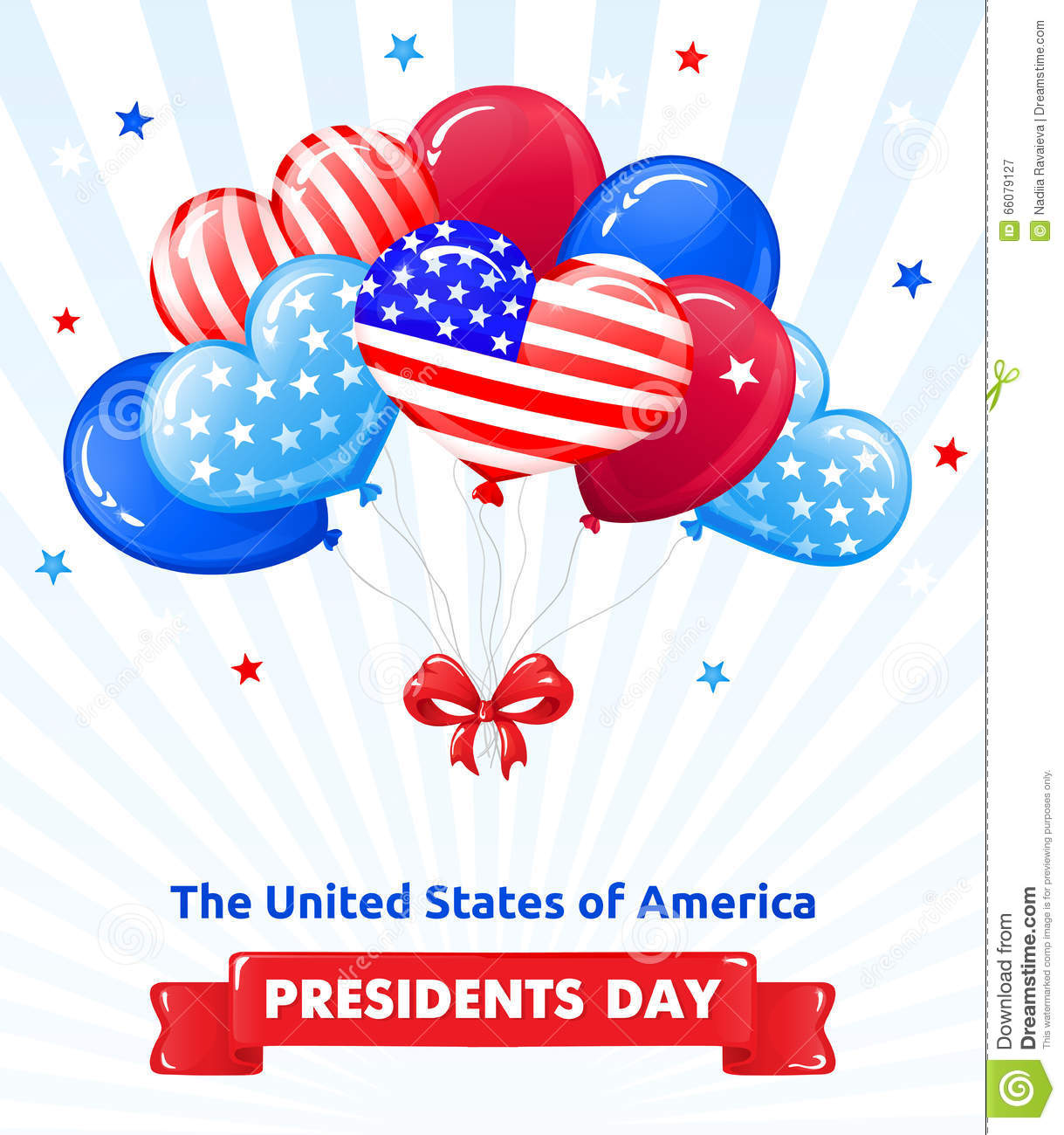 Extended Presidents Day: PRESIDENTS DAY In The USA Stock Vector. Illustration Of