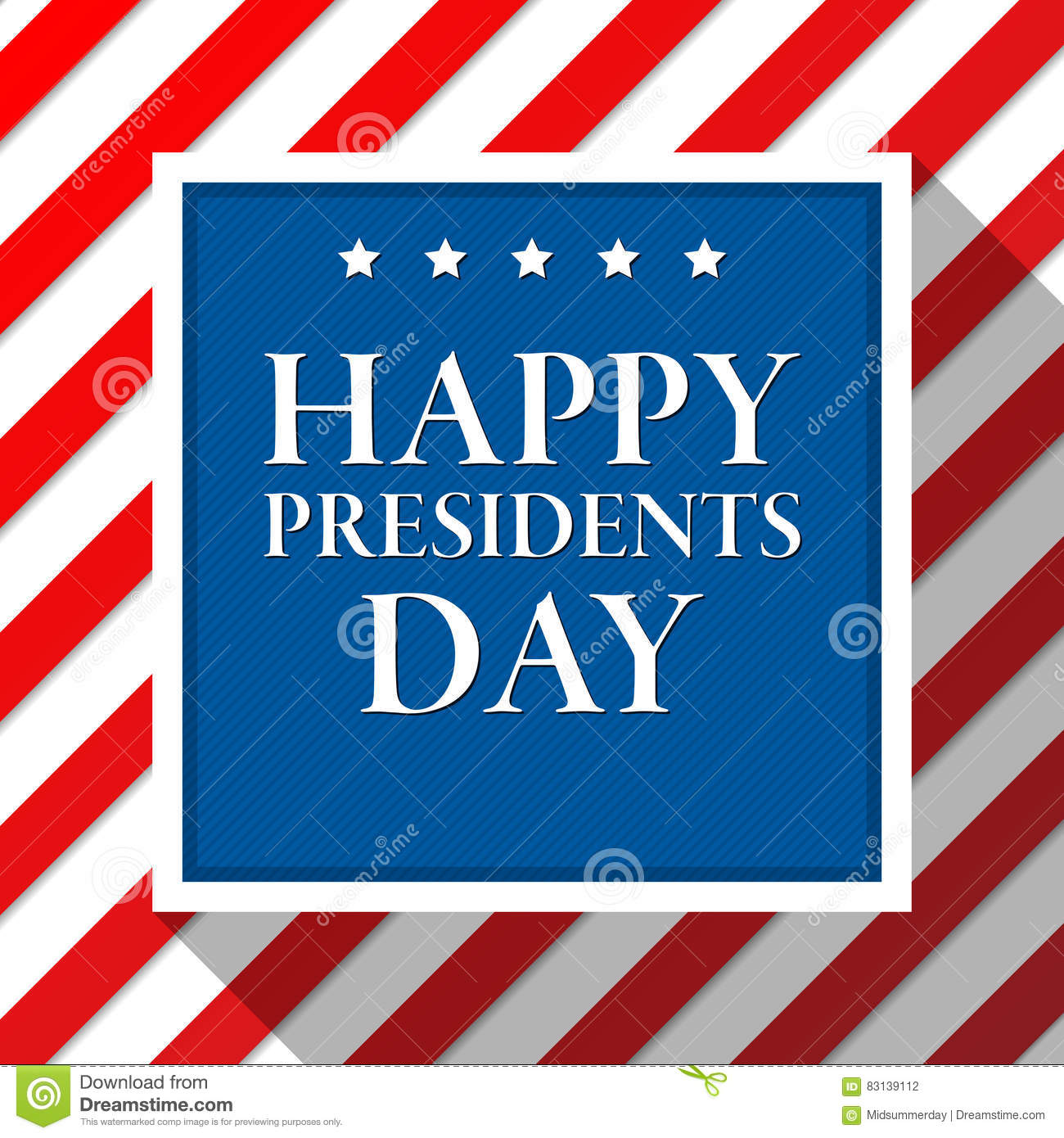 Extended Presidents Day: Presidents Day Vector Background. Colors Of American Flag