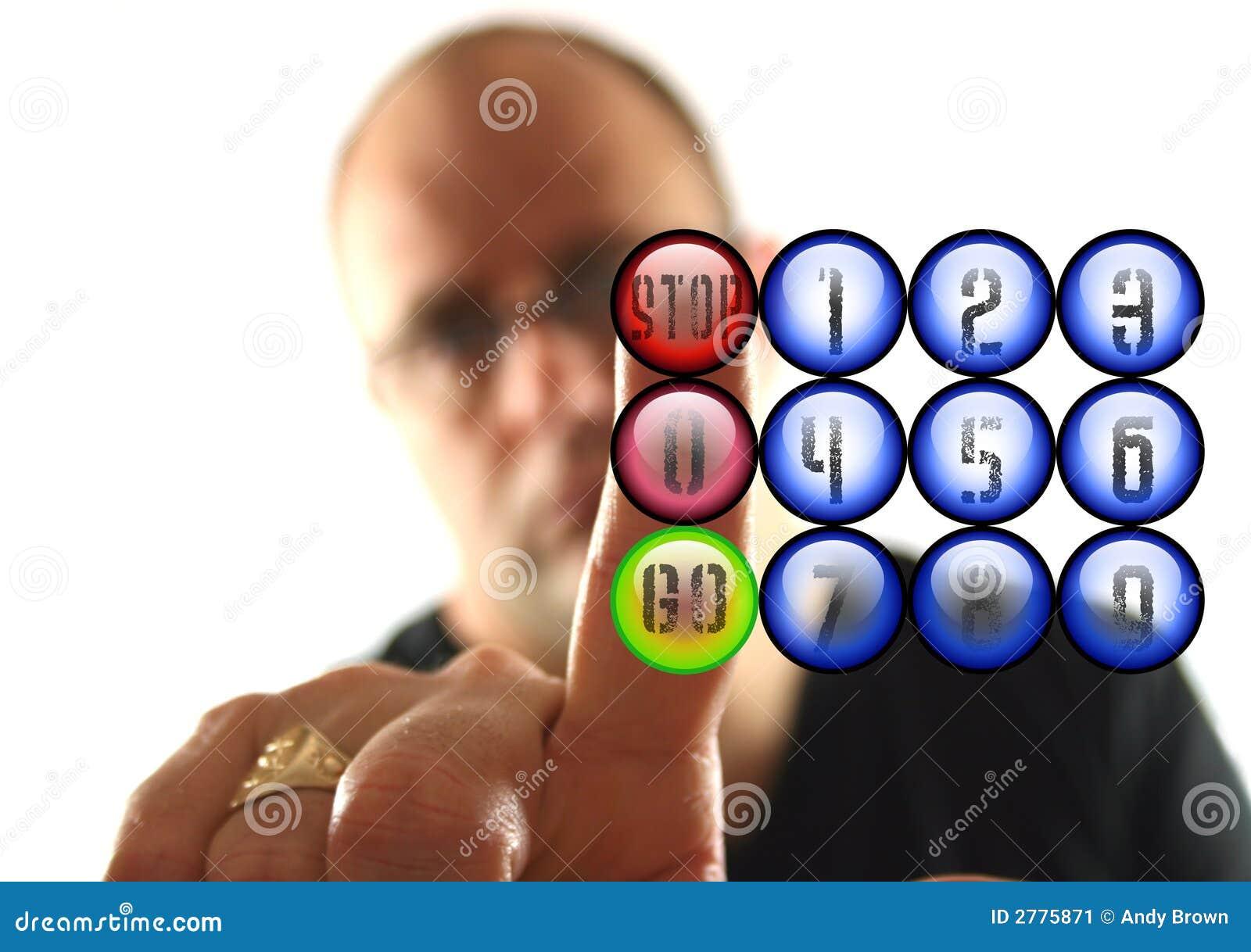 Presionar el botón
