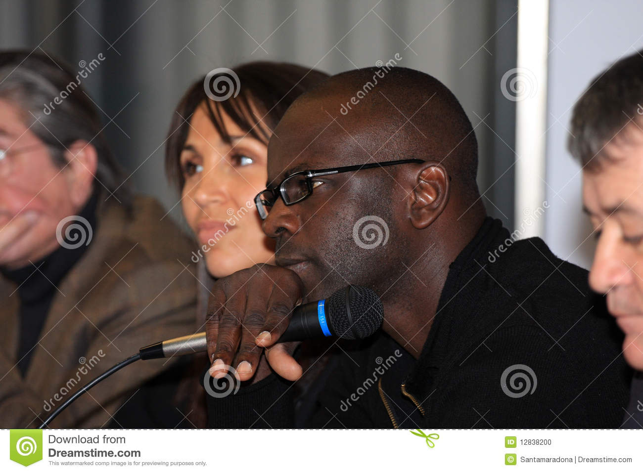 Press Conference Lilian Thuram Editorial Image Image
