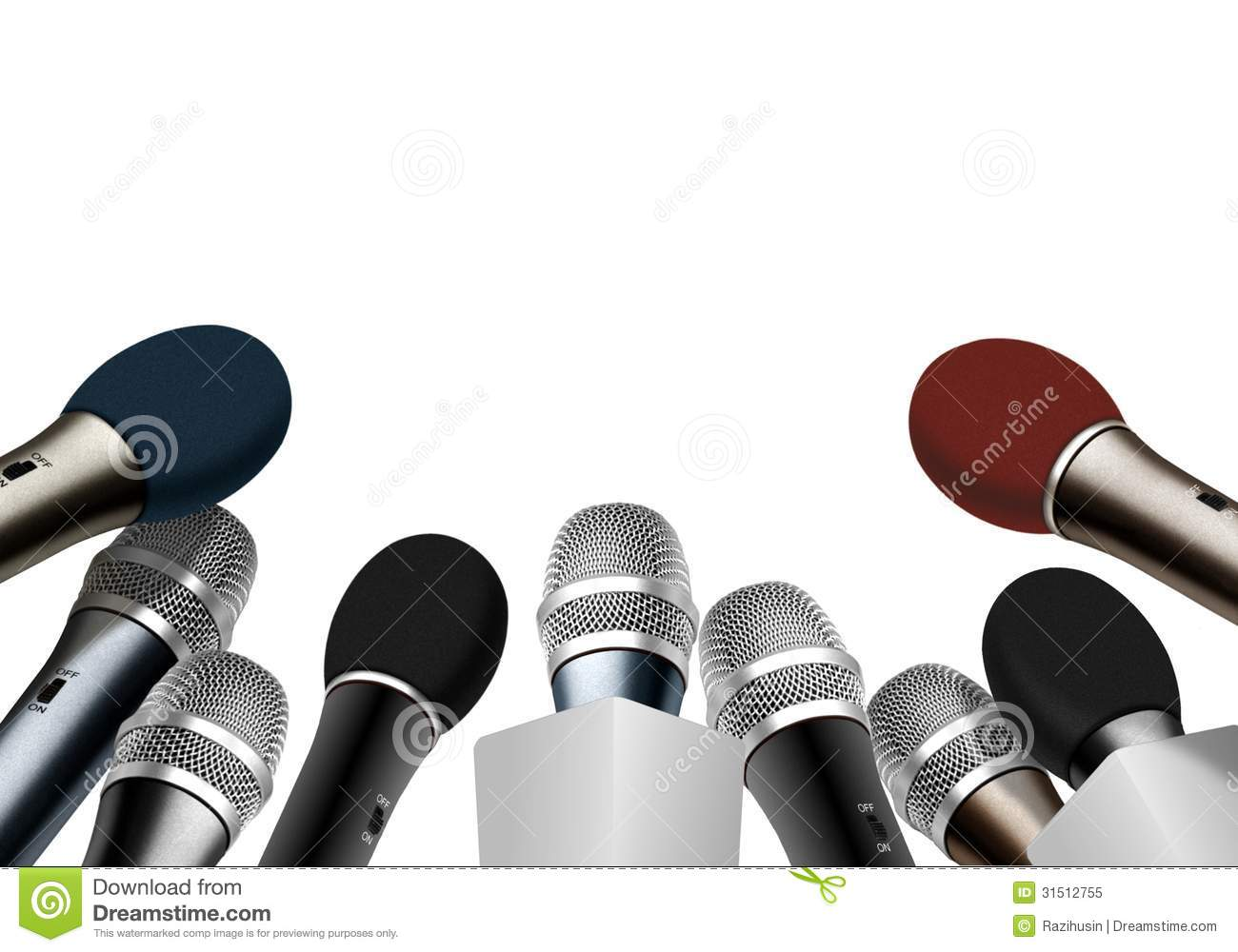 Press Conference Microphones Stock Illustration Image