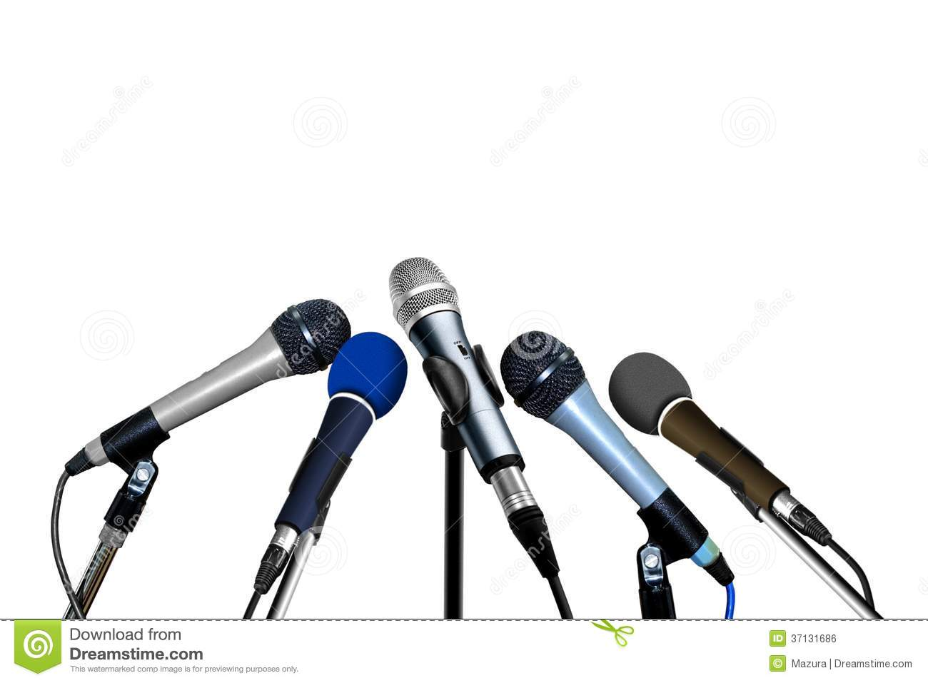 Press Conference Microphones Royalty Free Stock Image - Image ...