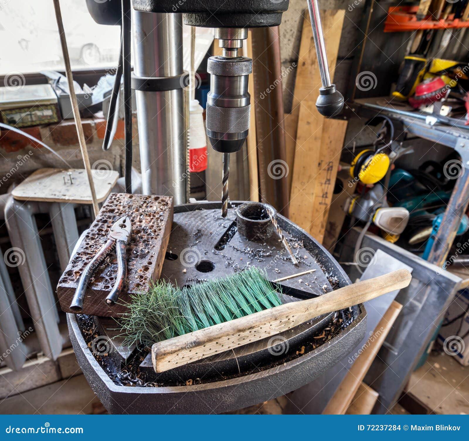 Press för elektrisk drillborr