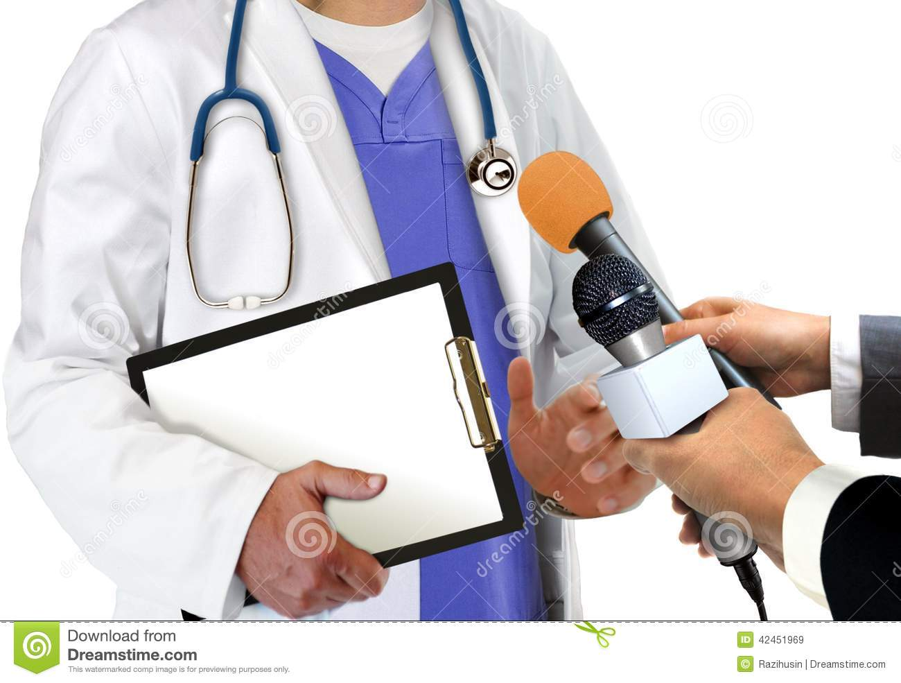 interviewing a doctor
