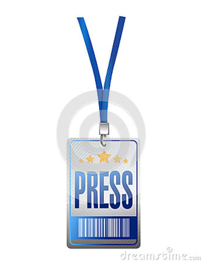 Press pass tag illustration design royalty free cartoon for Media press pass template