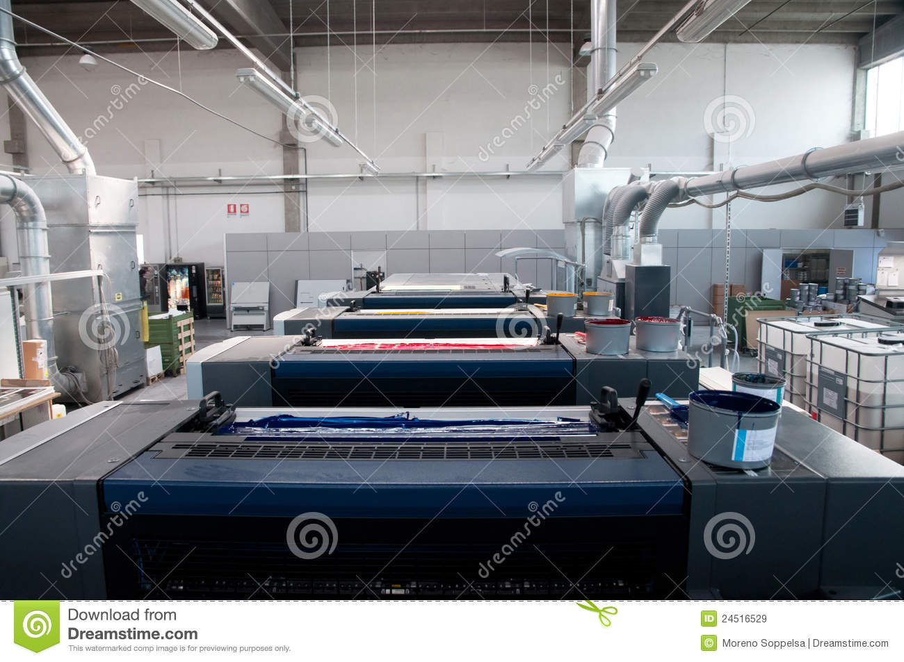 Factory commercial printing equipment