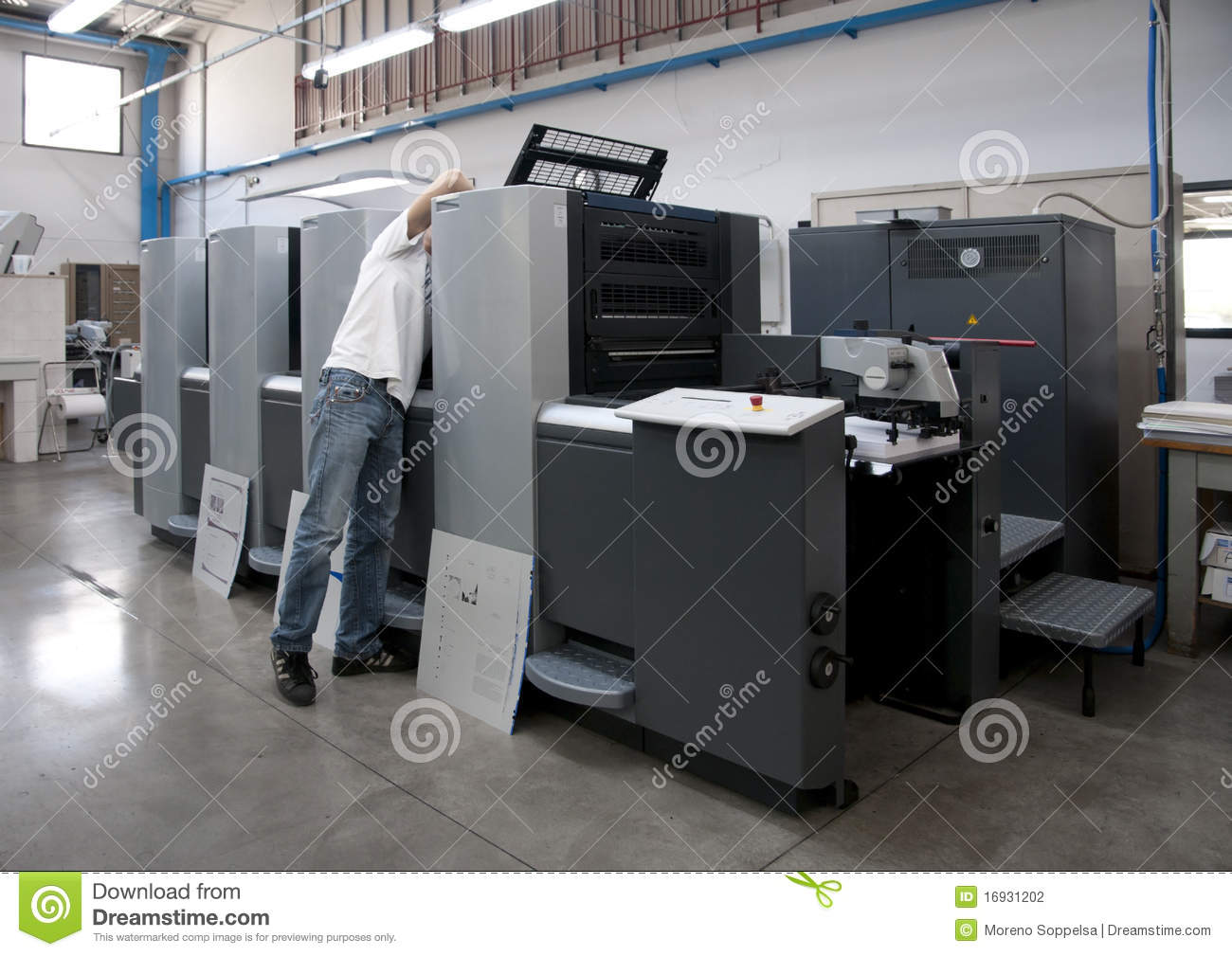 Press Printing Printshop Offset Stock Photo Image Of Flyer