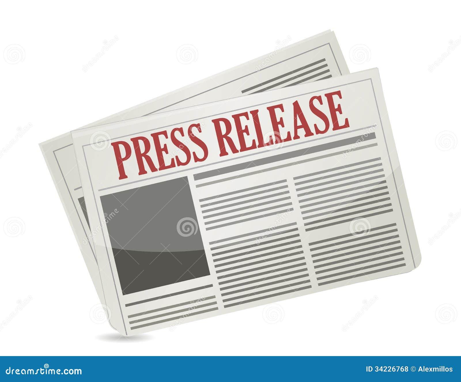 Press Release Newspaper Illustration Design Royalty Free
