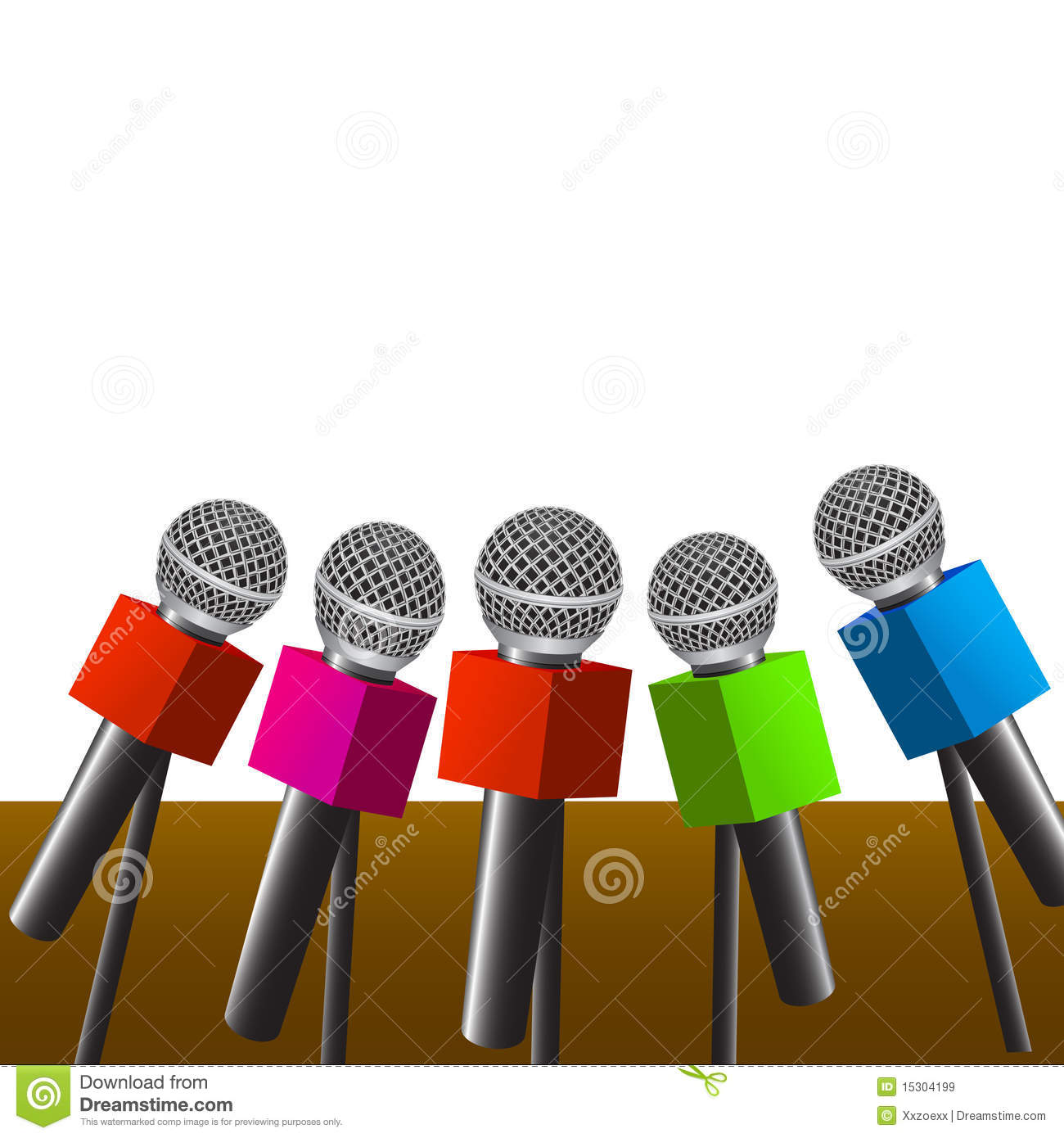 Press Room Microphones Stock Vector Image Of Brand