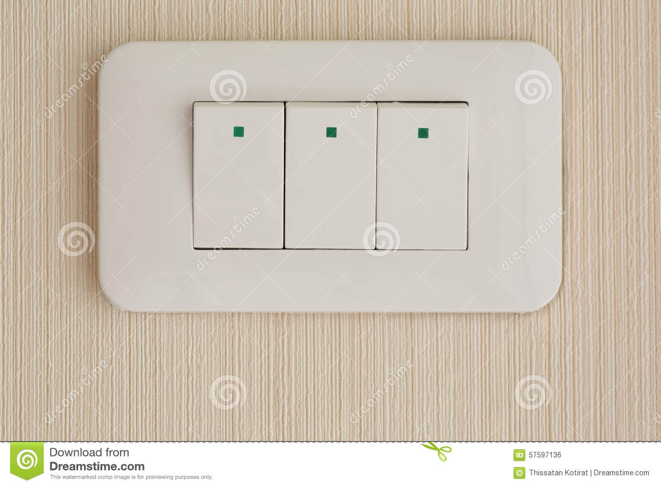 Press Turn On/off Electrical Switch On The Wallpaper Stock Photo ...